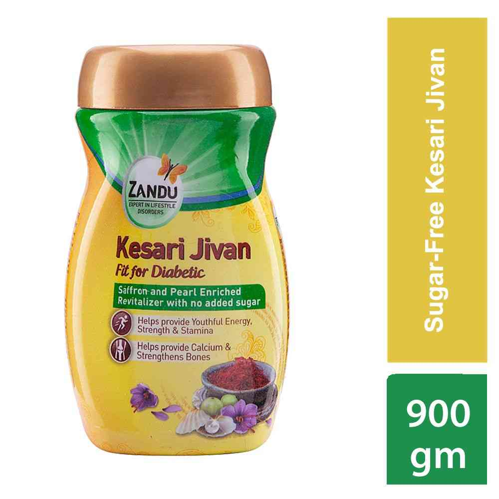Zandu Kesari Jivan Sugar Free Health Supplement Bottle Of 900 G