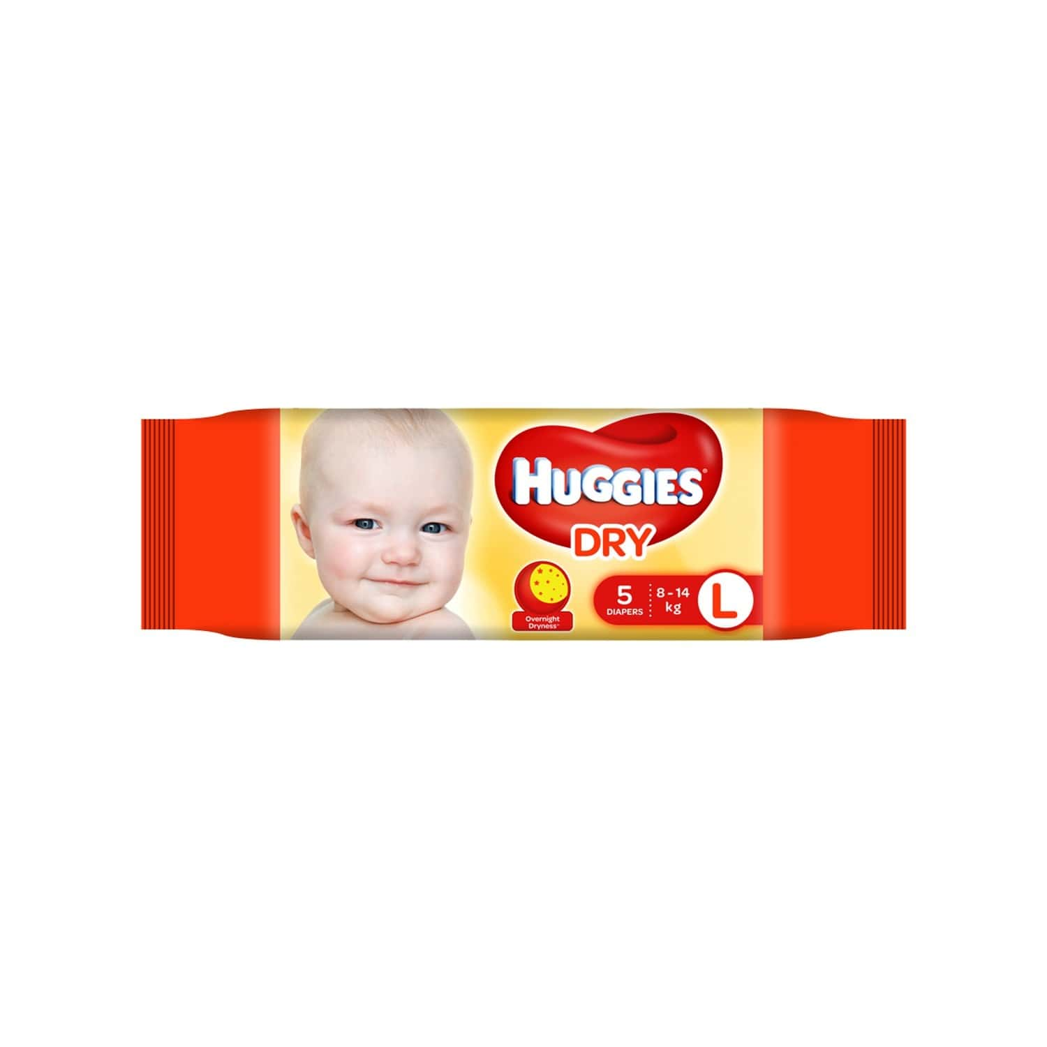 Huggies Dry Tape Diapers ( Large Size) - 5 Count