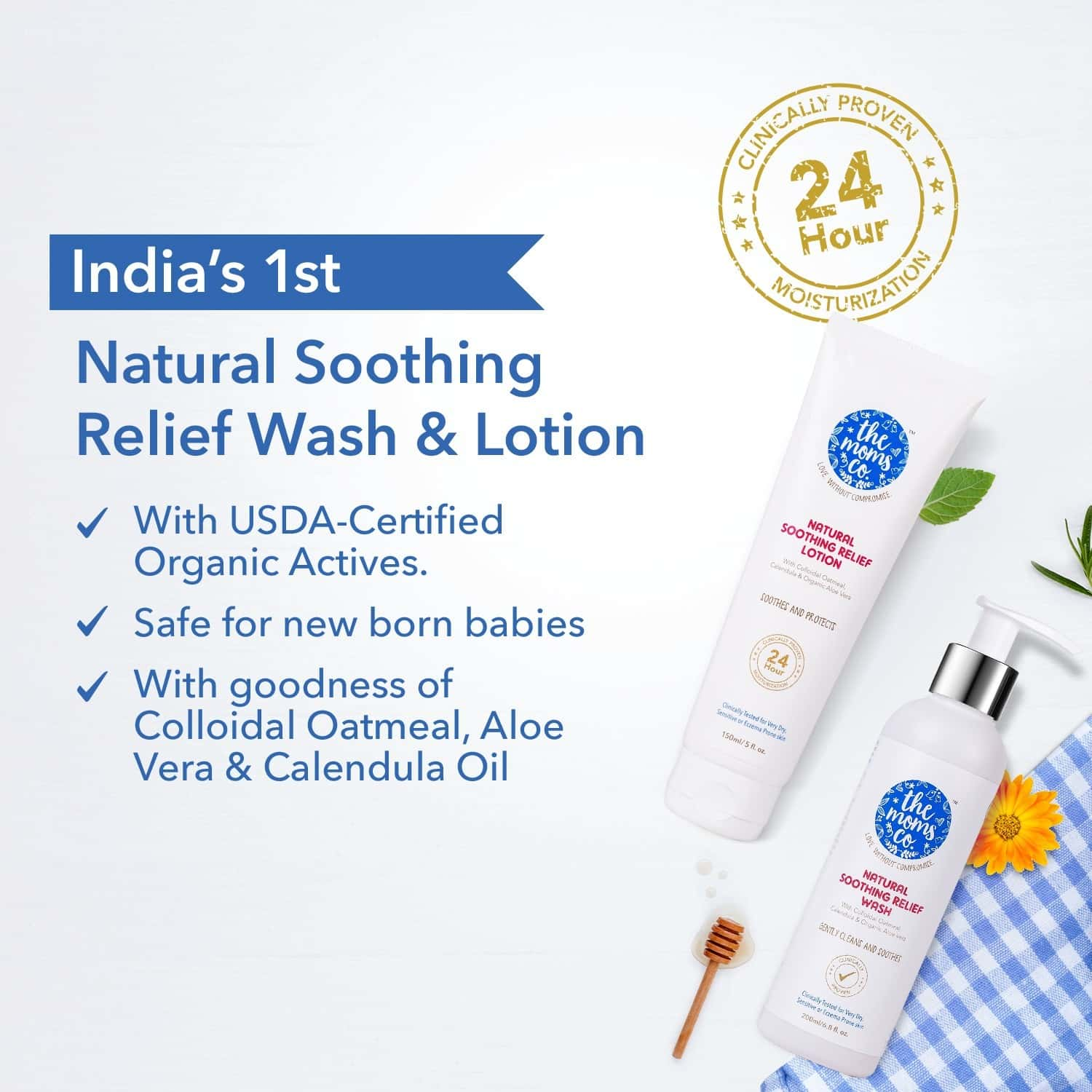The Moms Co. Natural Soothing Relief Kit Of 350 Ml
