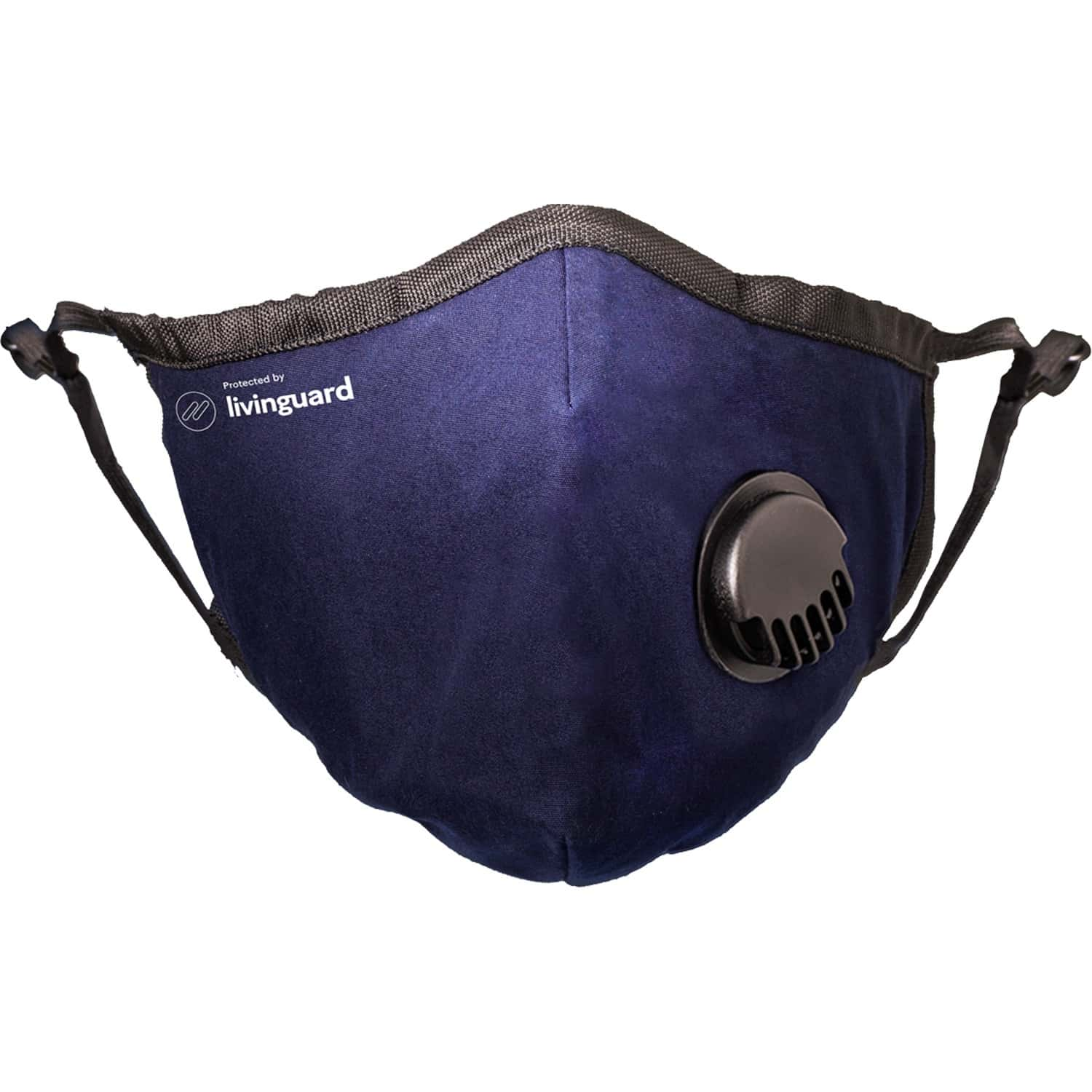 Livinguard Ultra Mask | 4 Layers | >98% Filtration | Anti-viral & Anti-bacterial | Non-toxic & Safe | Washable & Reusable | Cotton Face Mask | Large Bombay Blue