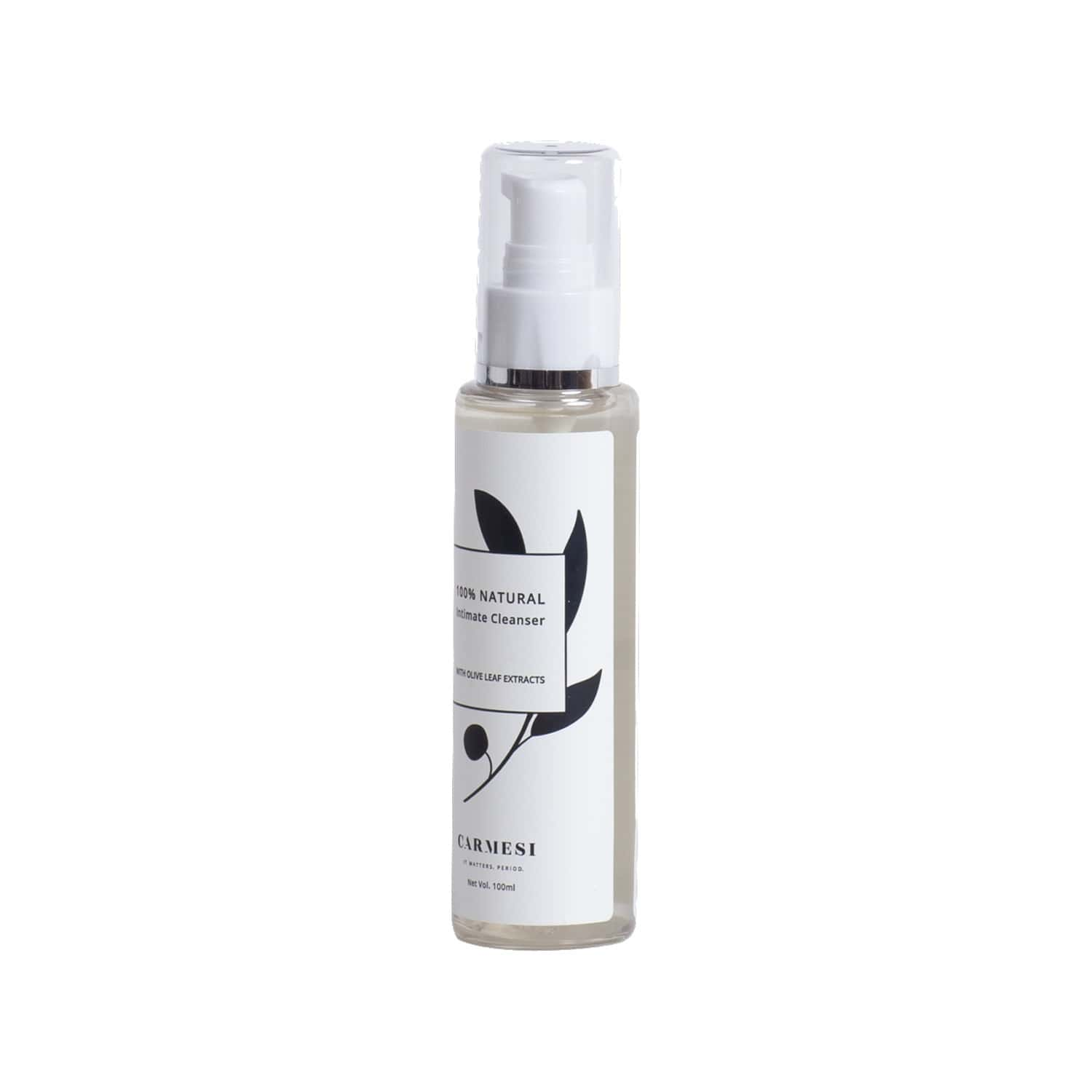 Carmesi All Natural Intimate Cleanser With Olive Leaf Extracts For Women - 100 Ml