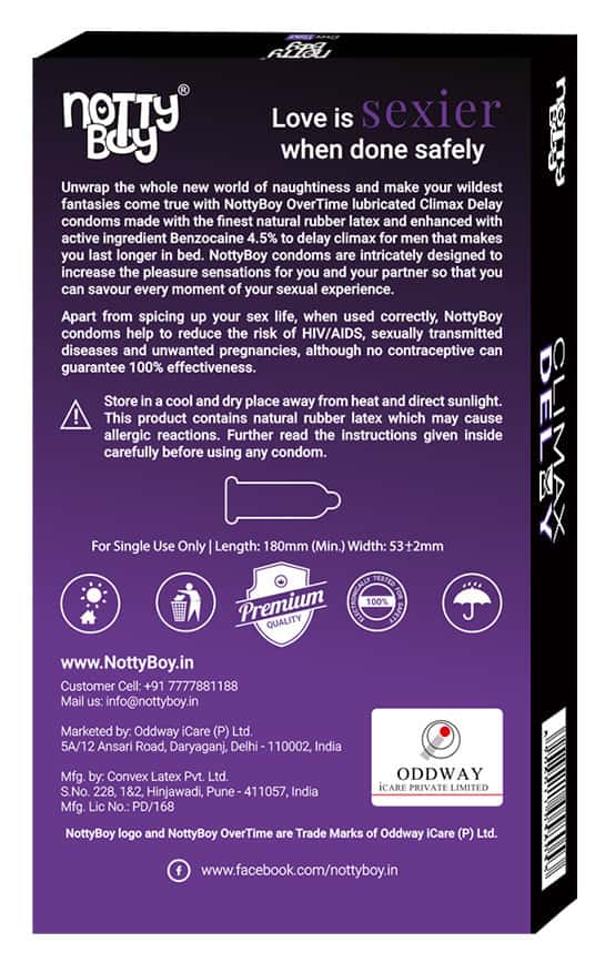 Nottyboy Climax Delay Overtime Condoms - 10s