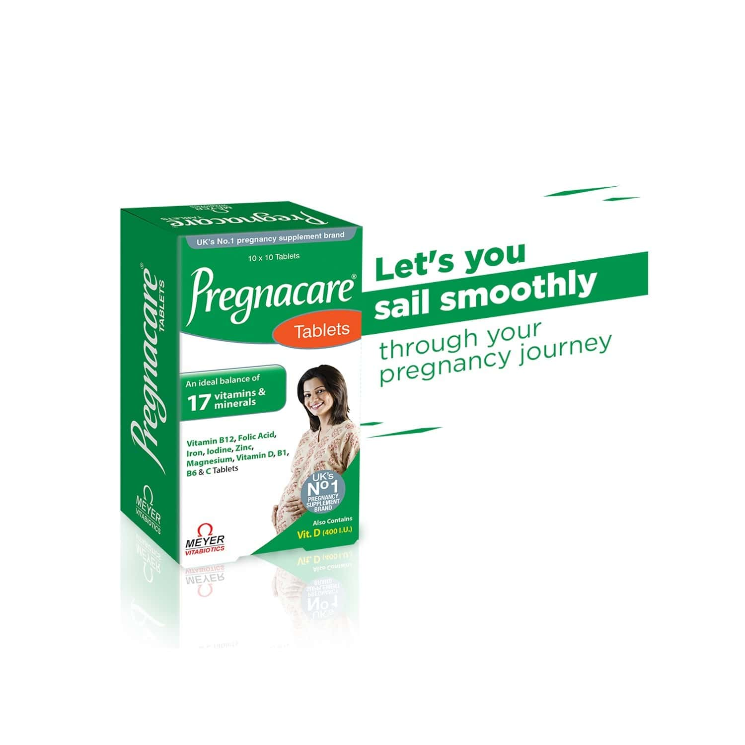 Pregnacare - Pregnancy Supplement (19 Vitamins And Minerals) - 100 Tablets With Wellman 30 Tablet Free