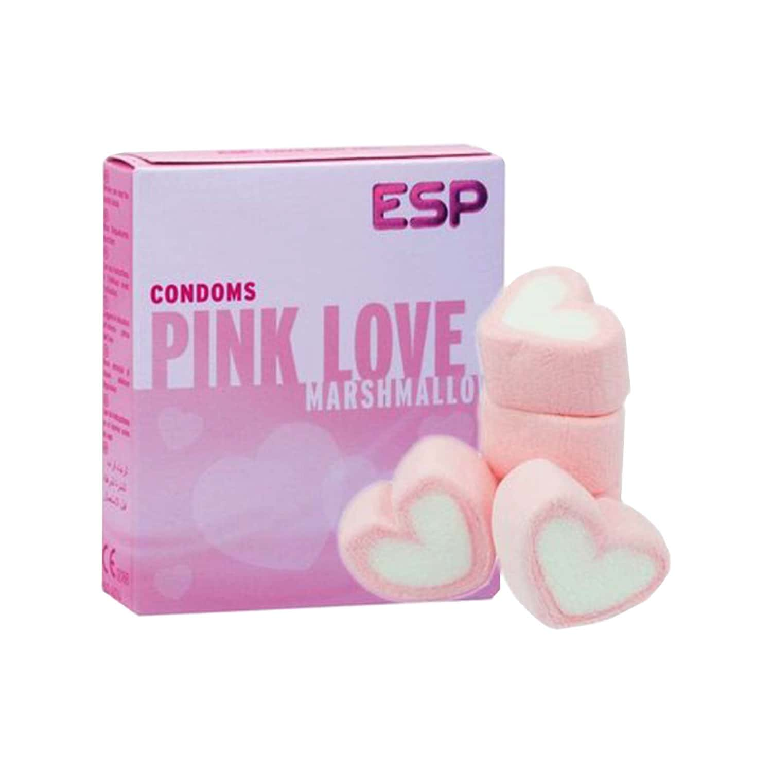 Esp Pink Love Condoms With Marshmallow Flavour- Pack Of 3