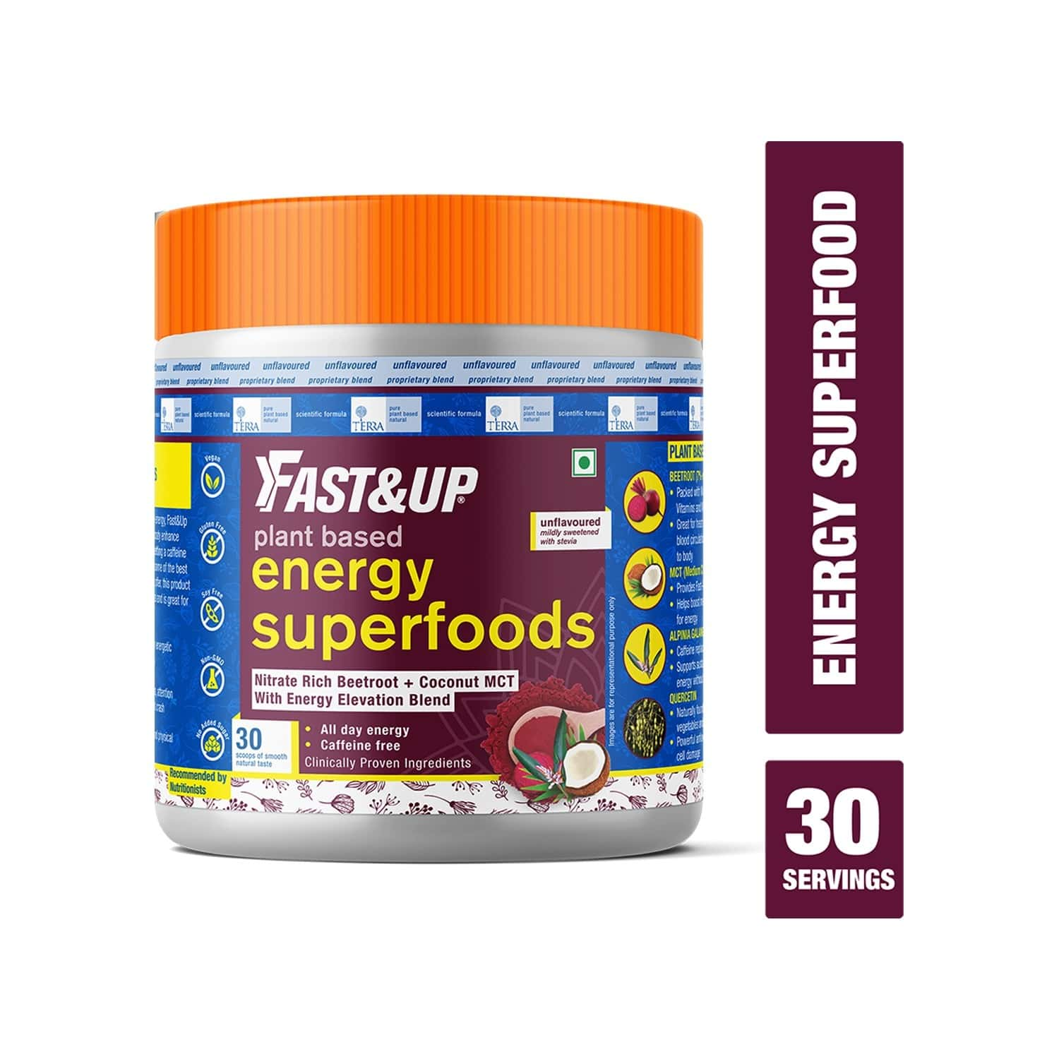 Fast&up Natural Energy Superfoods With Natural Beetroot Extract