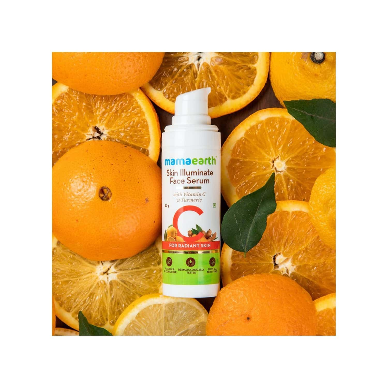 Mamaearth Skin Illuminate Vitamin C Serum For Radiant Skin With High Potency Vitamin C & Turmeric - 30 G