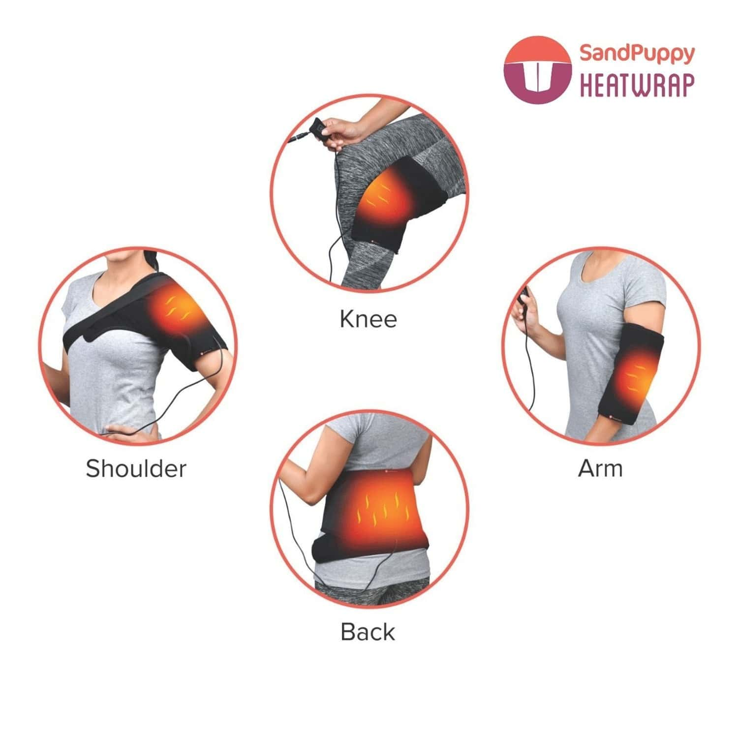 Sandpuppy Supersaver Hot And Cold Combo- Heatwrap + Coldstrap Multiuse Heating And Cooling Pad Combo