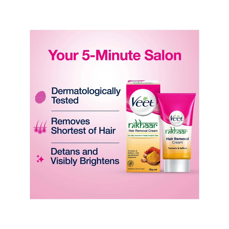 Veet Nikhaar Hair Removal Cream For All Skin Types - 30g