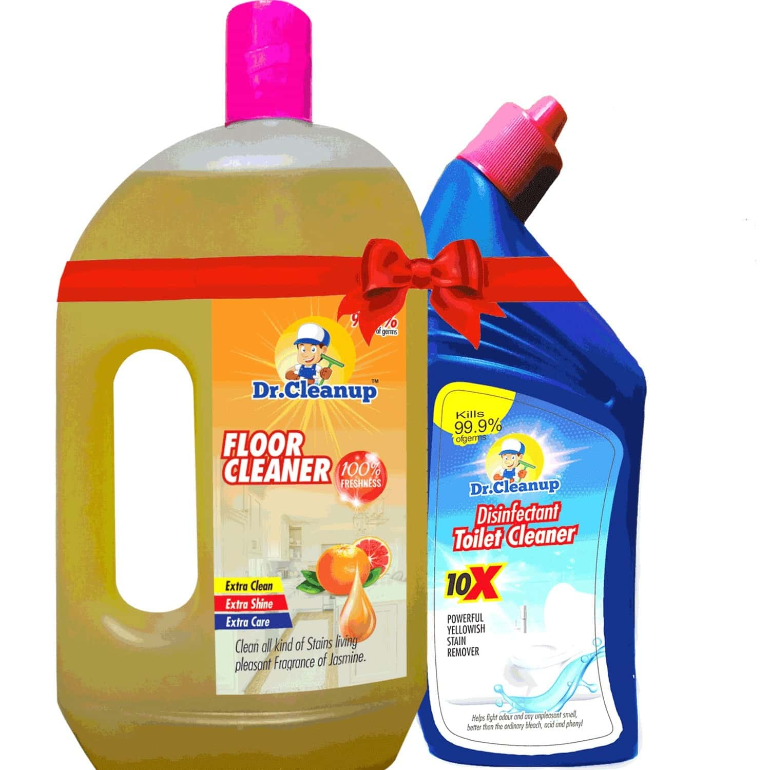 Dr Cleanup Citrus Floor Cleaner - 1000ml (free Dr Cleanup Toilet Cleaner - 500ml)