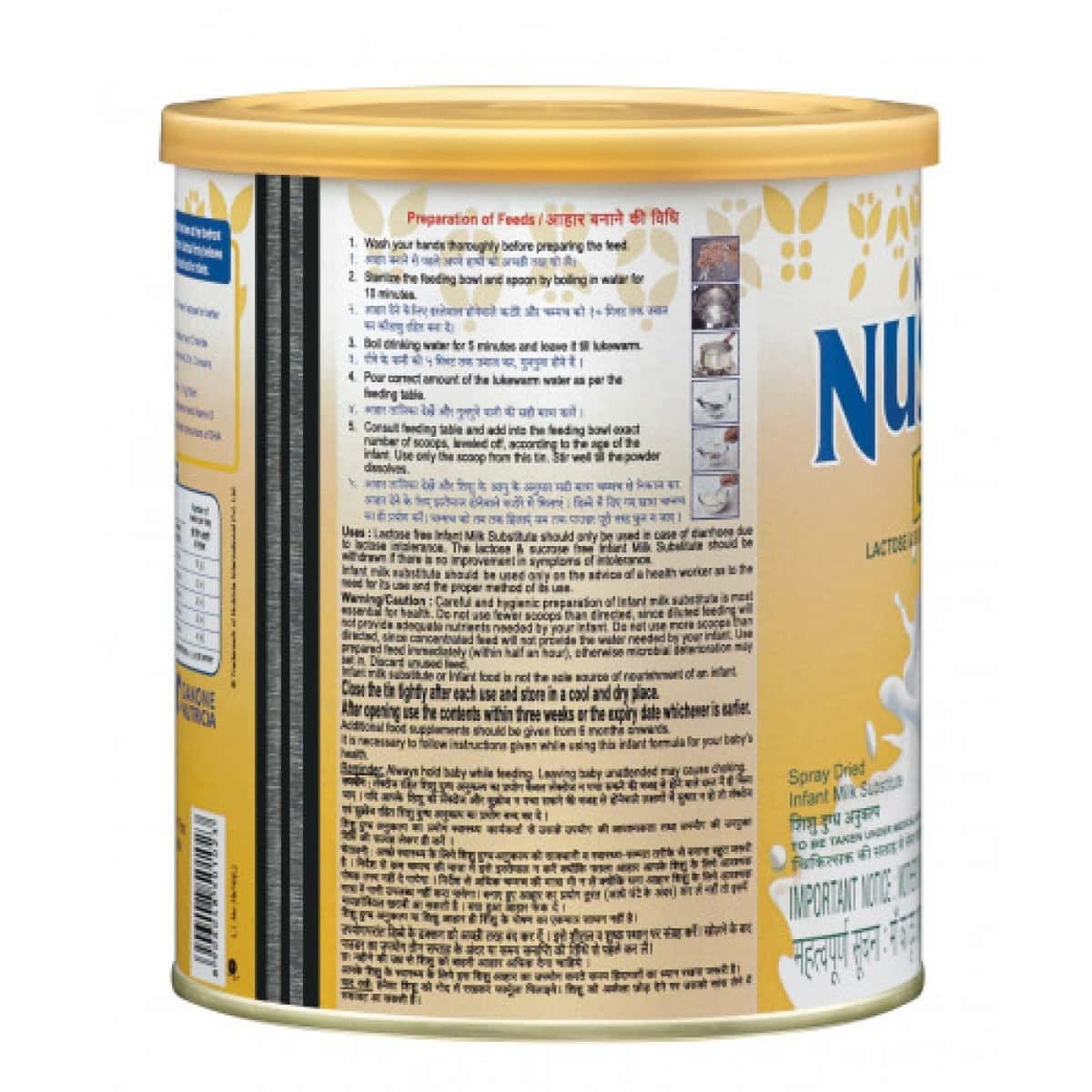 Nusobee Casein Stage 1 Infant Formula Baby Food Tin Of 200 G