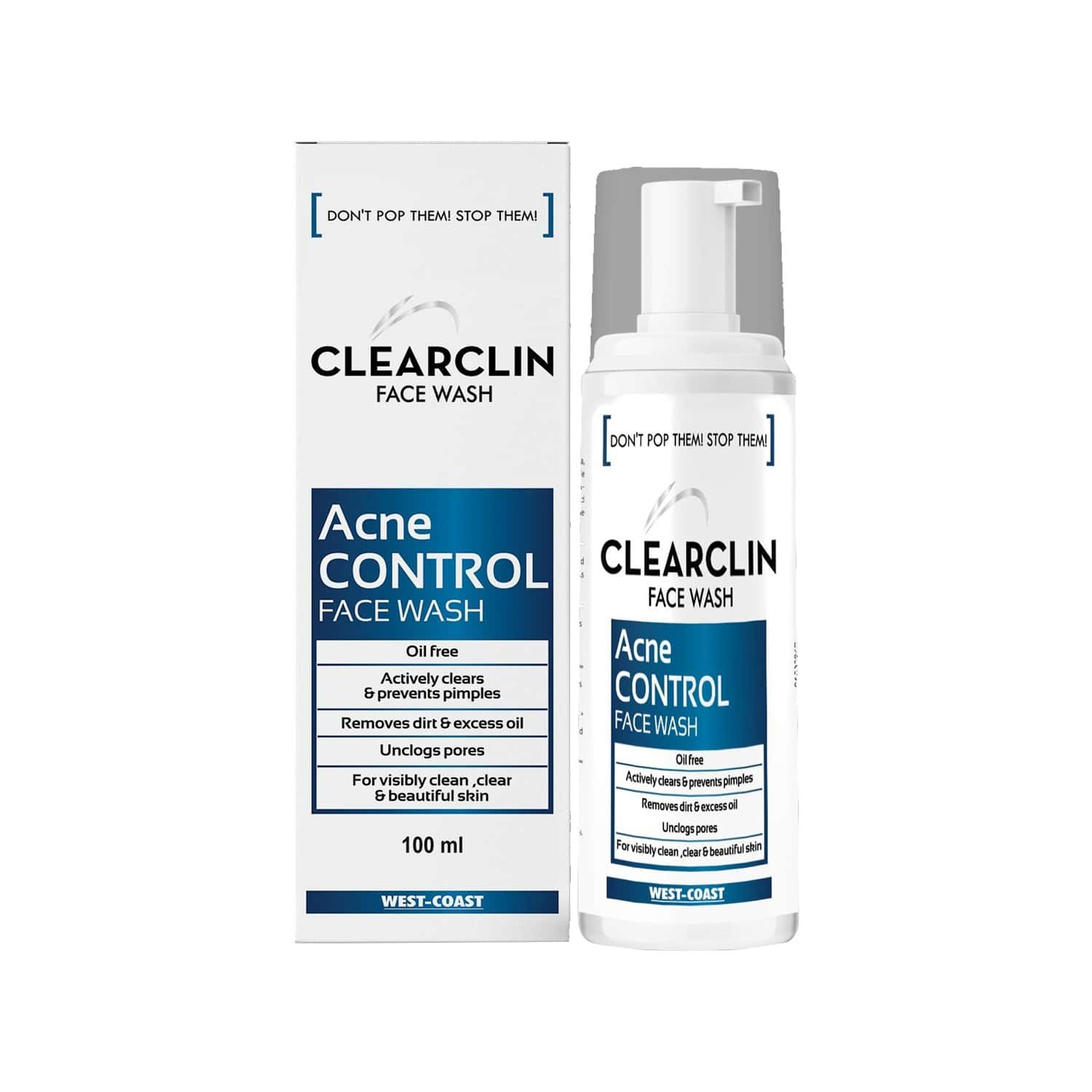 West-coast Clearclin Acne Control Face Wash Bottle Of 60 Ml