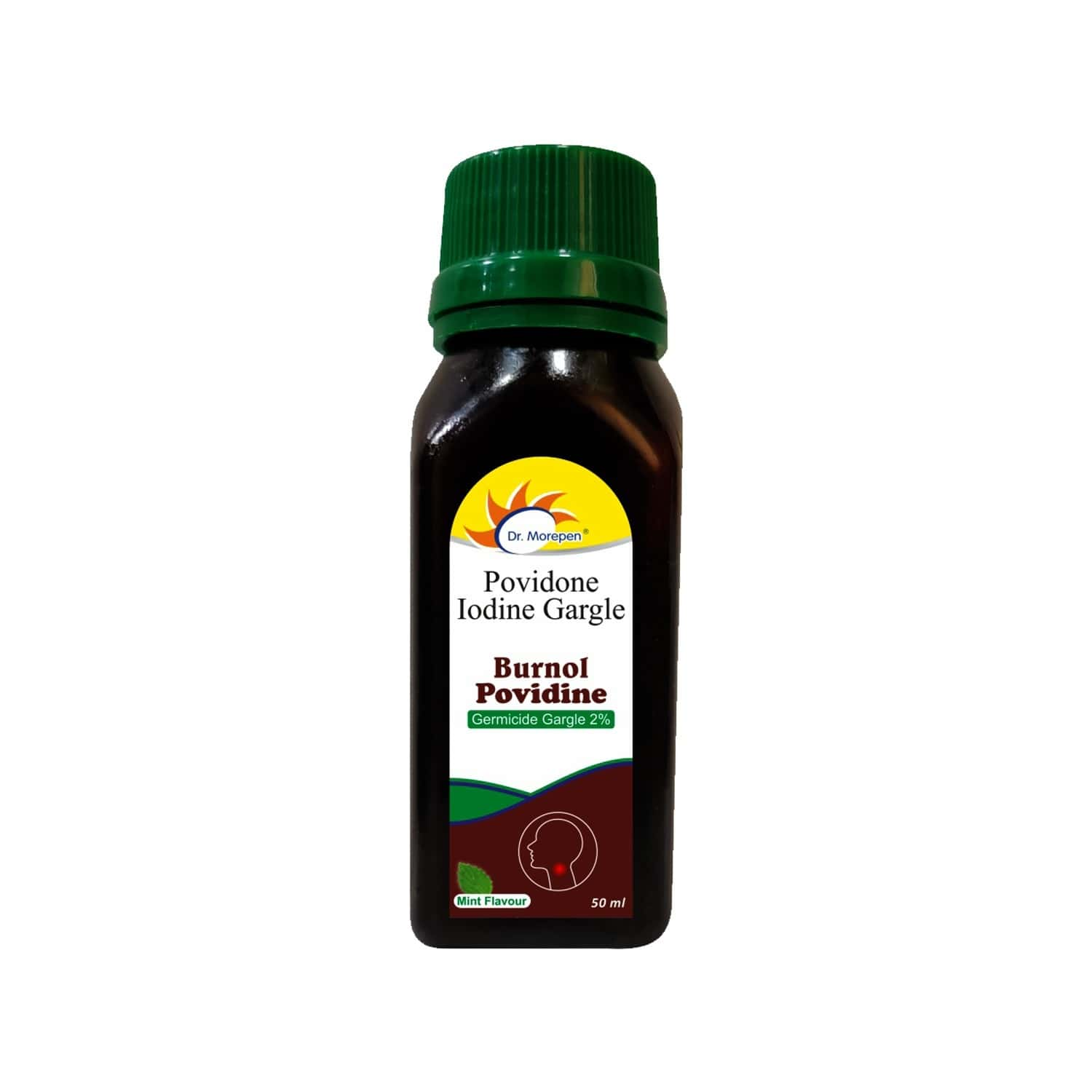 Dr. Morepen Providone Iodine Gargle With Mint Flavour - 50ml