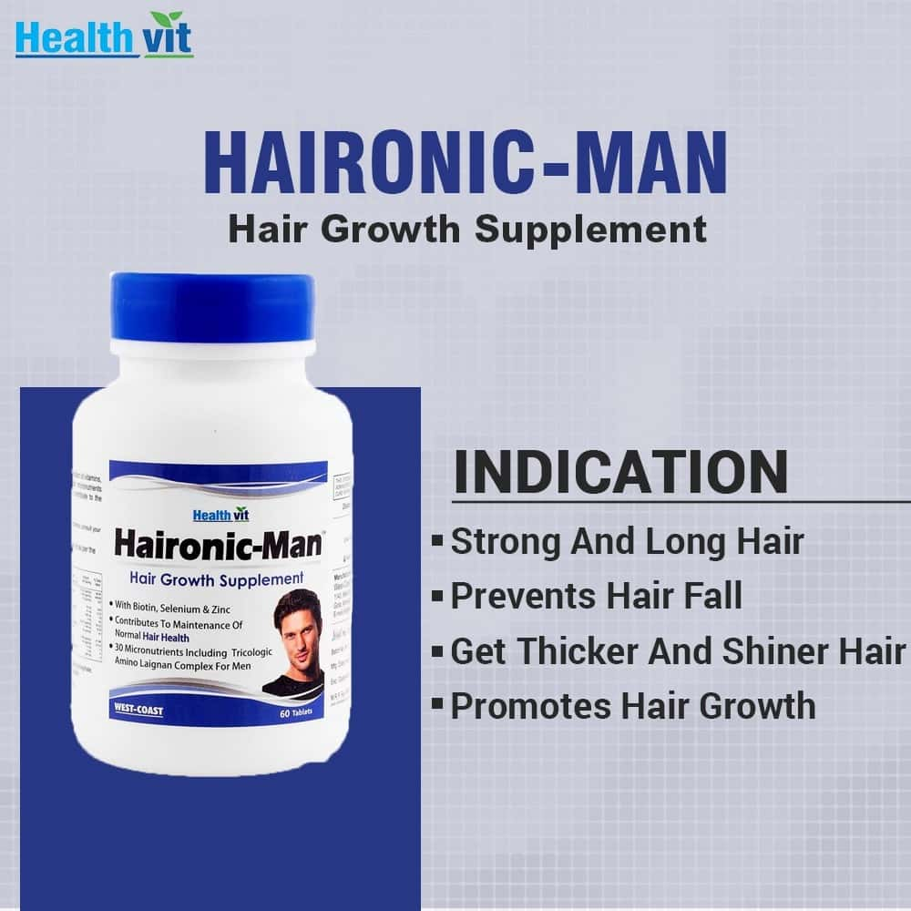 Healthvit Haironic-man Hair Growth Tablets Bottle Of 60