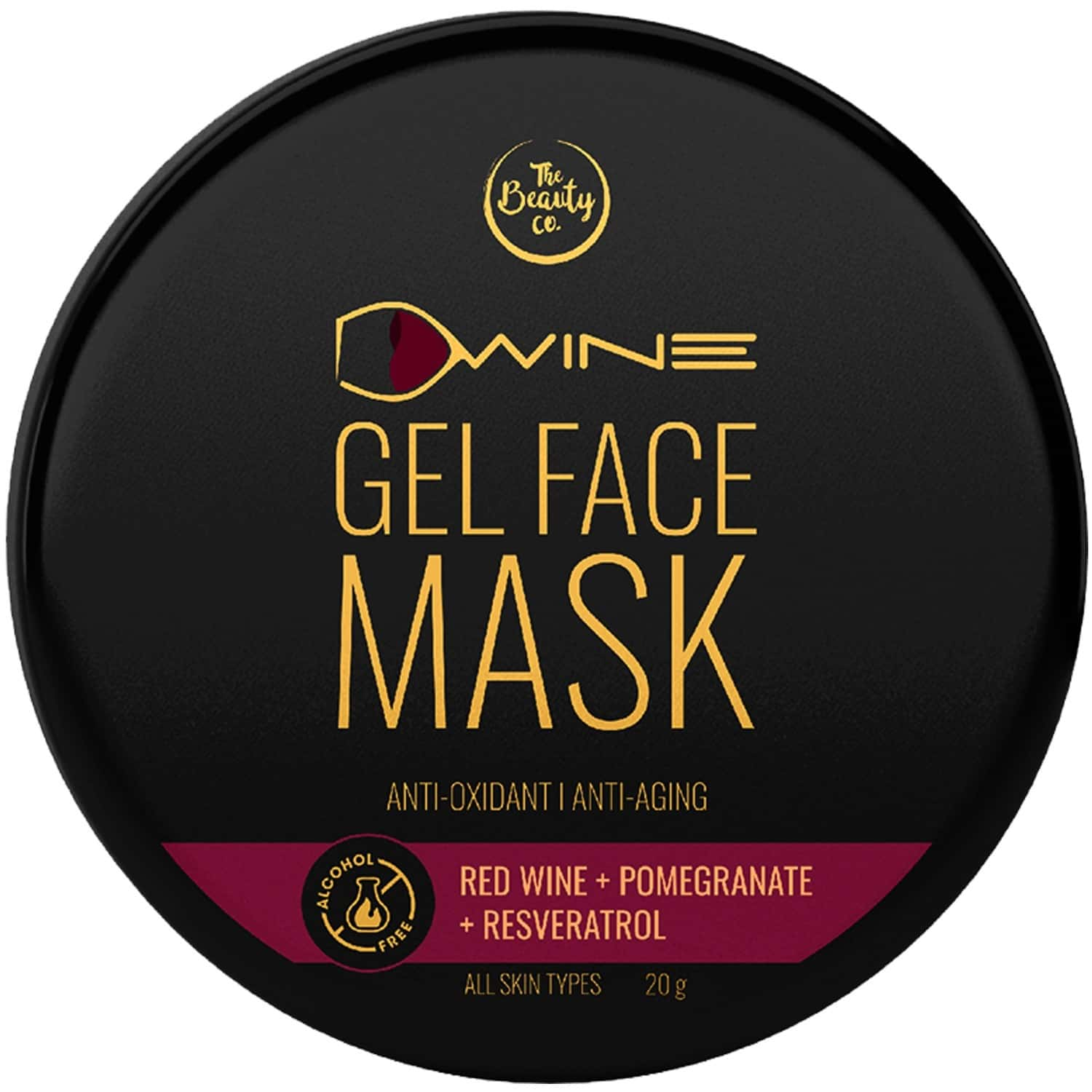 The Beauty Co. D'wine Face Gel Mask (20gm)   Made In India