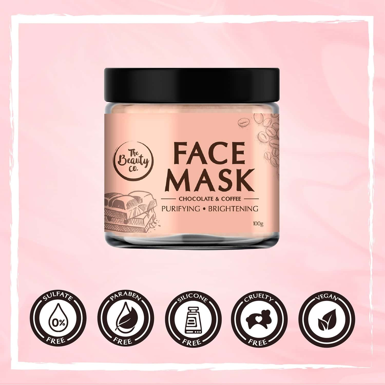 The Beauty Co. Chocolate & Coffee Face Mask, 100gm