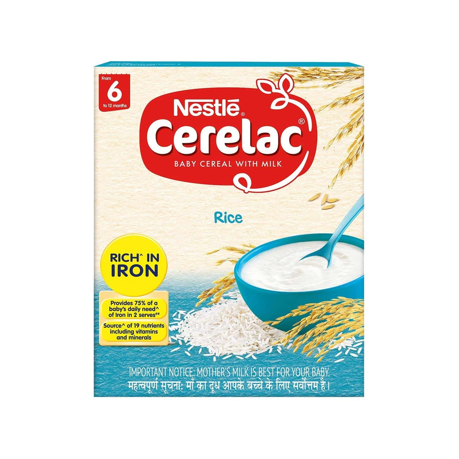 Nestle Cerelac Baby Food Milk Rice (from 6 Months) Box Of 300 G