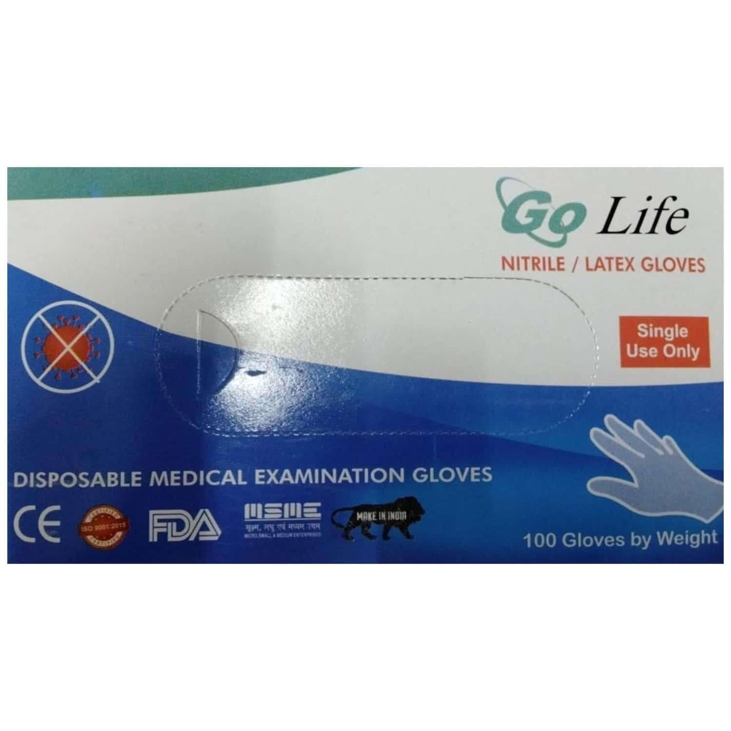 Go Life Disposable Medical Examination Gloves - 100's