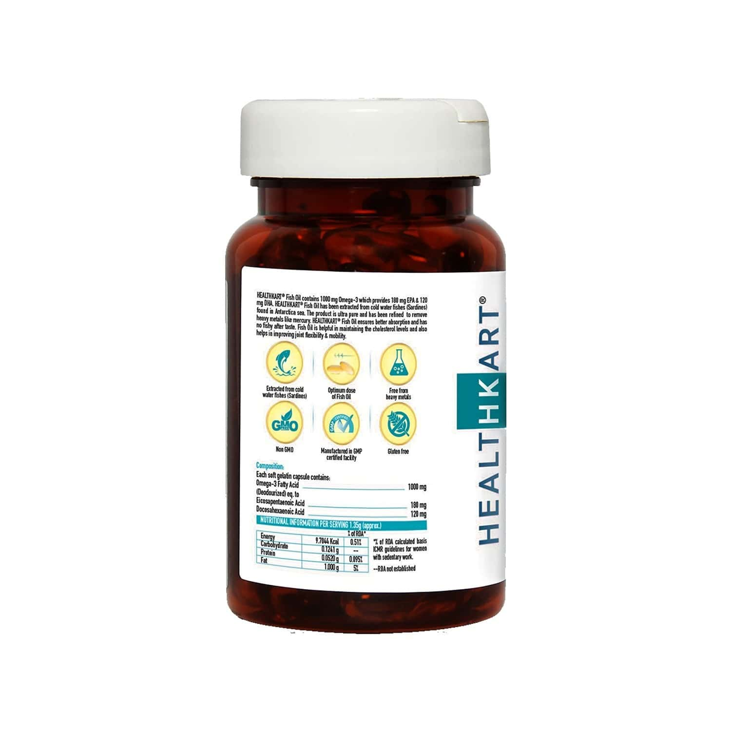 Healthkart Fish Oil 1000 Omega 3 - 60 Softgels