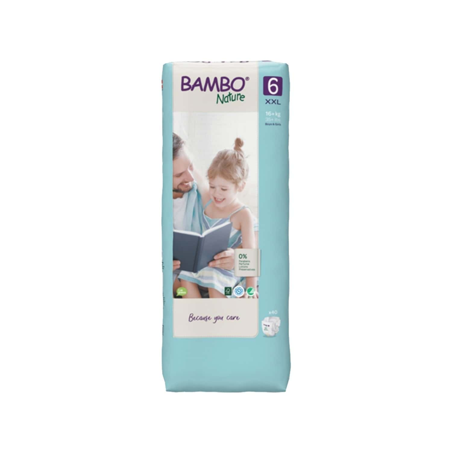 Bambo Nature Xxl Size Diaper With Wetness Indicator - 40 Diapers