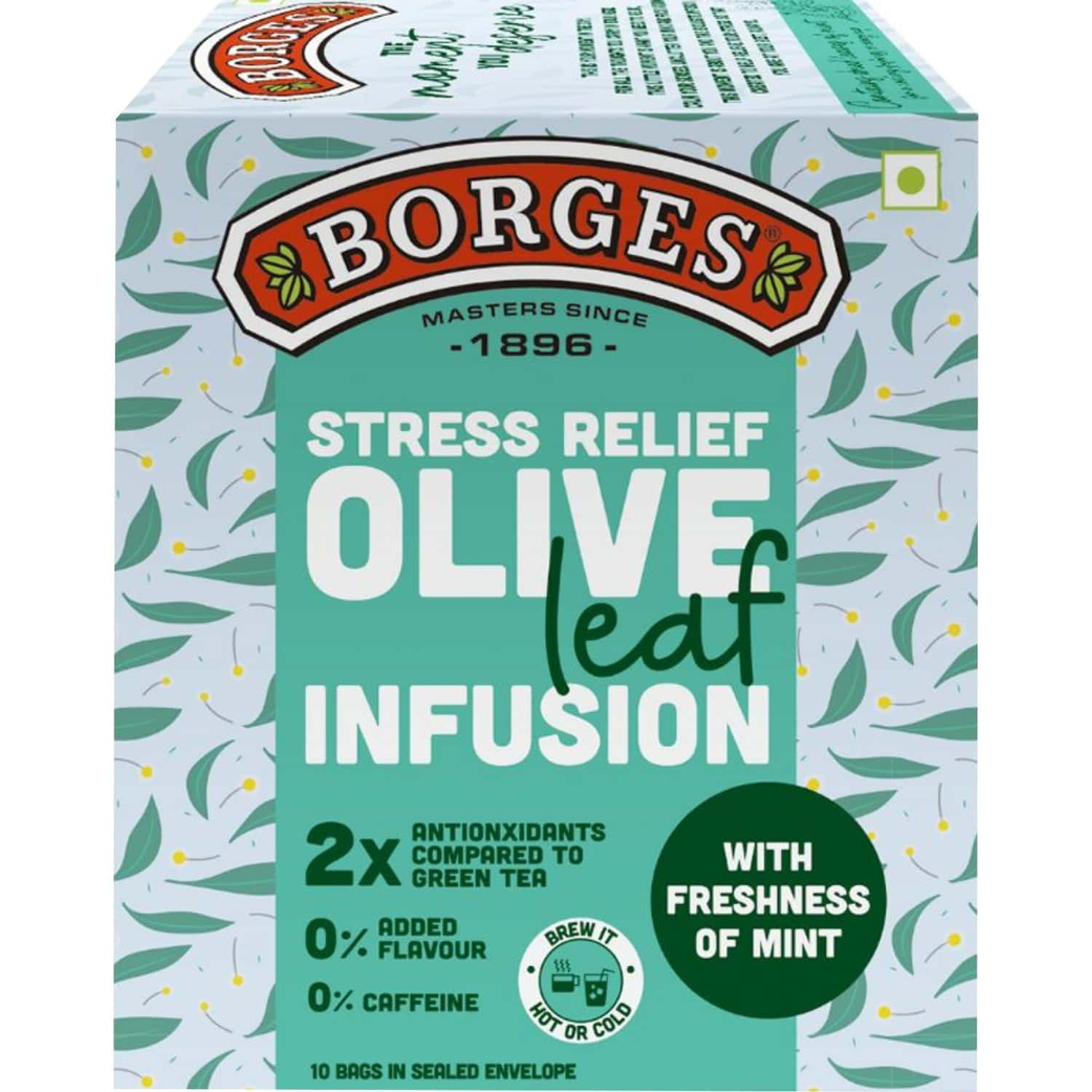 Borges Olive Leaf Infusion Mint - 1x10 Bags