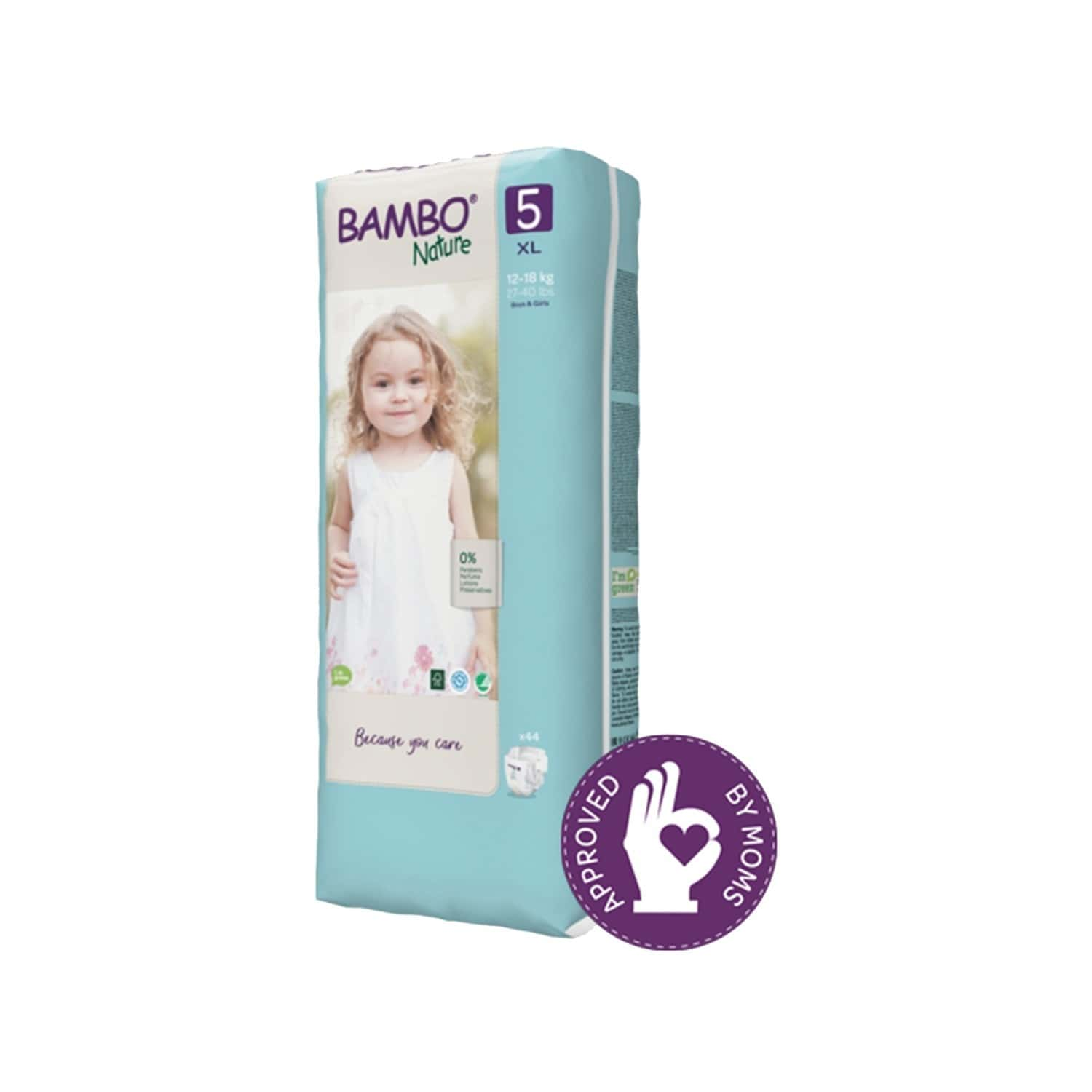 Bambo Naturexl Size Diaper With Wetness Indicator - 44 Diapers