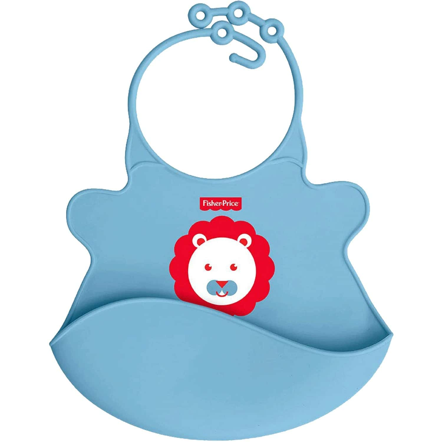 Fisher Price Ultracare Easy Clean Silicon Baby Bib. Ideal For Weaning Babies 4 Month Plus Blue
