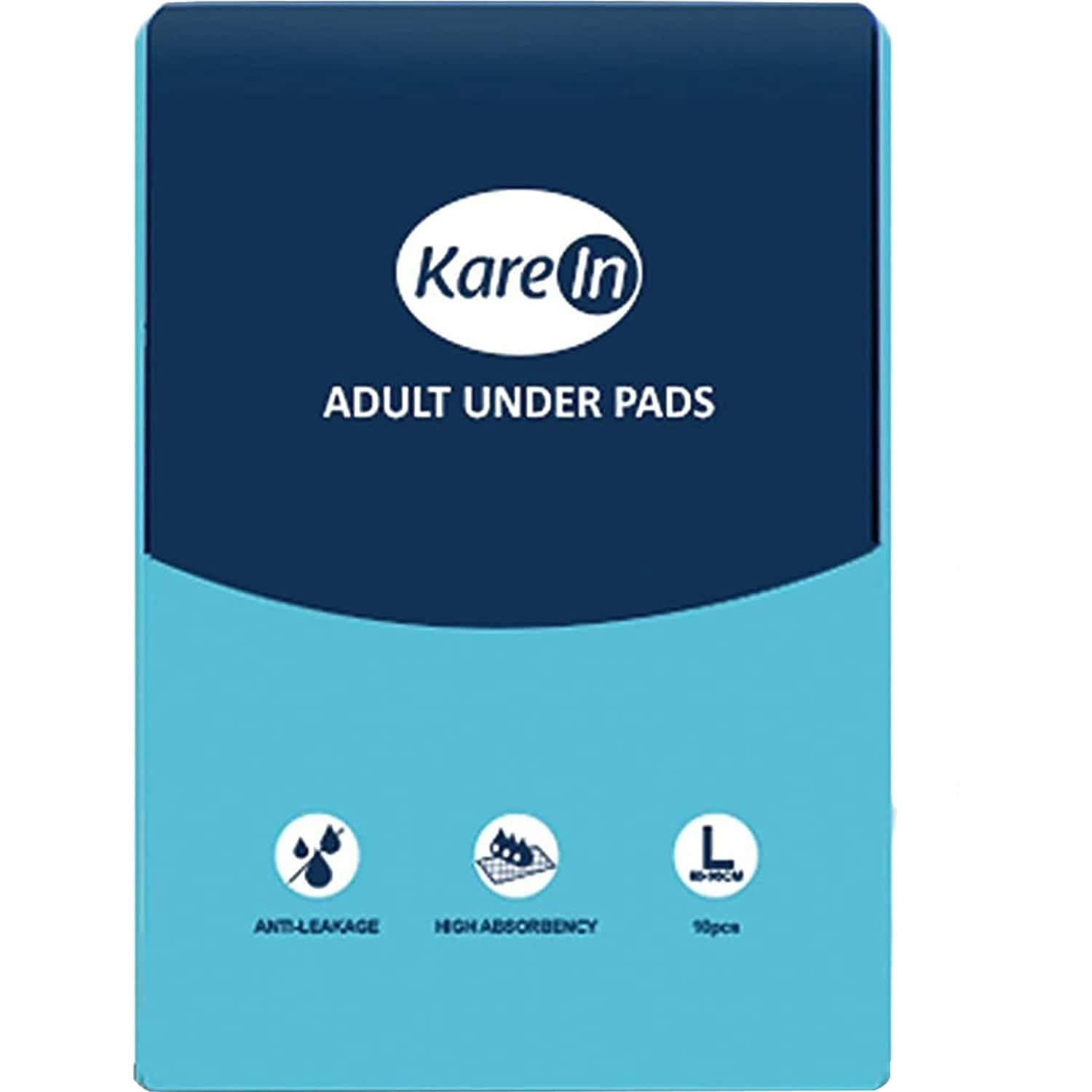 Kare In Underpads Large ,size 60 X 90cm ,high Absorbency 10 Pcs