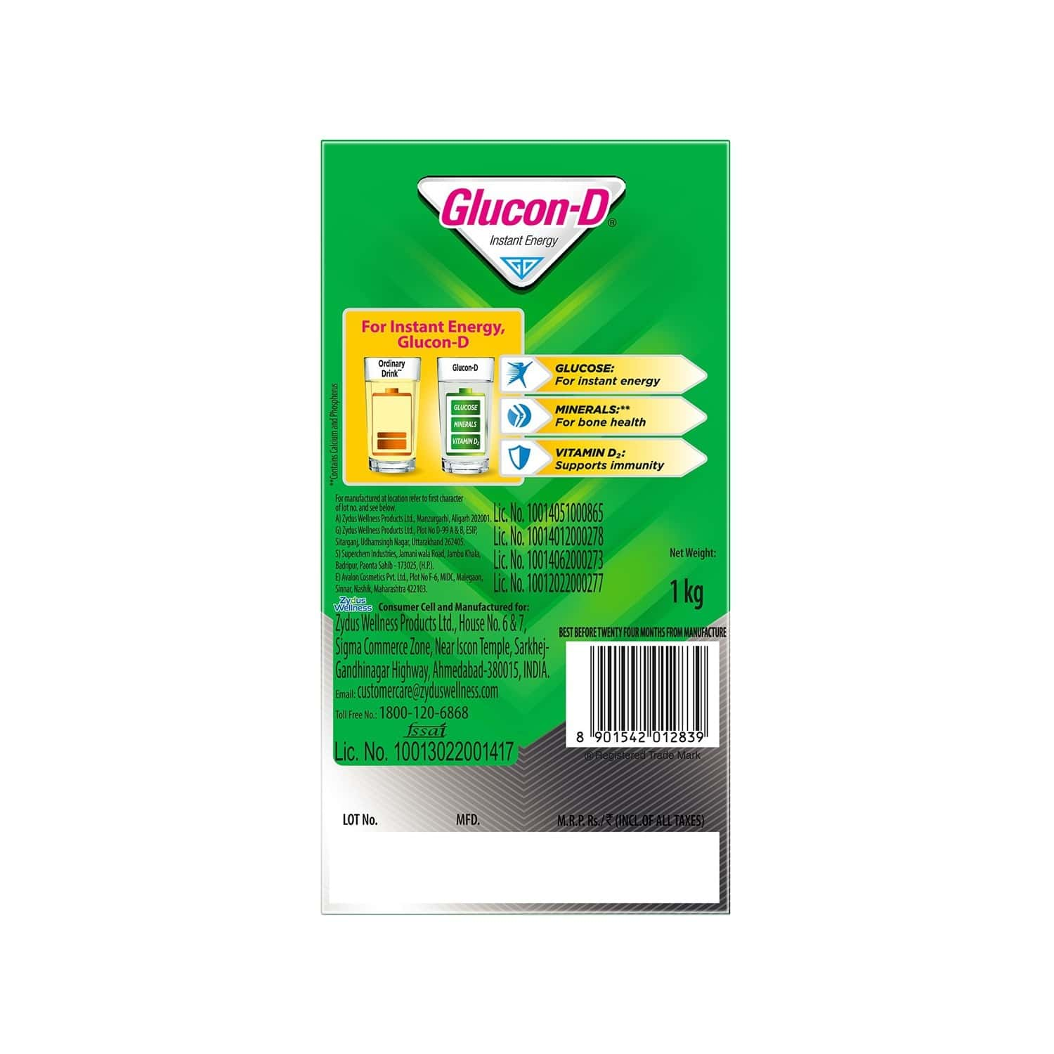 Glucon-d Regular Health Drink Refill Of 1 Kg
