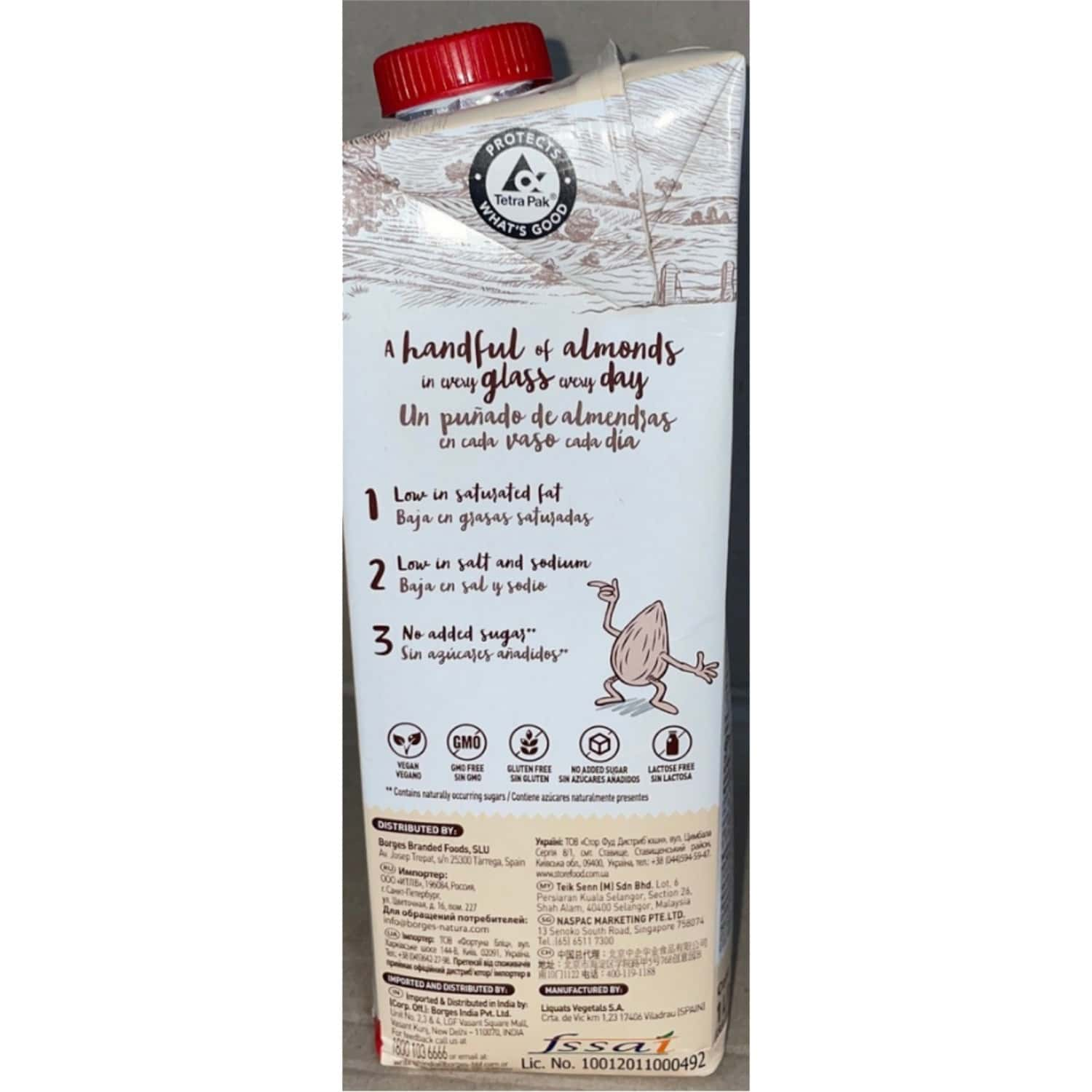Borges Natura Rice & Almond Drink 1l Tetrapack