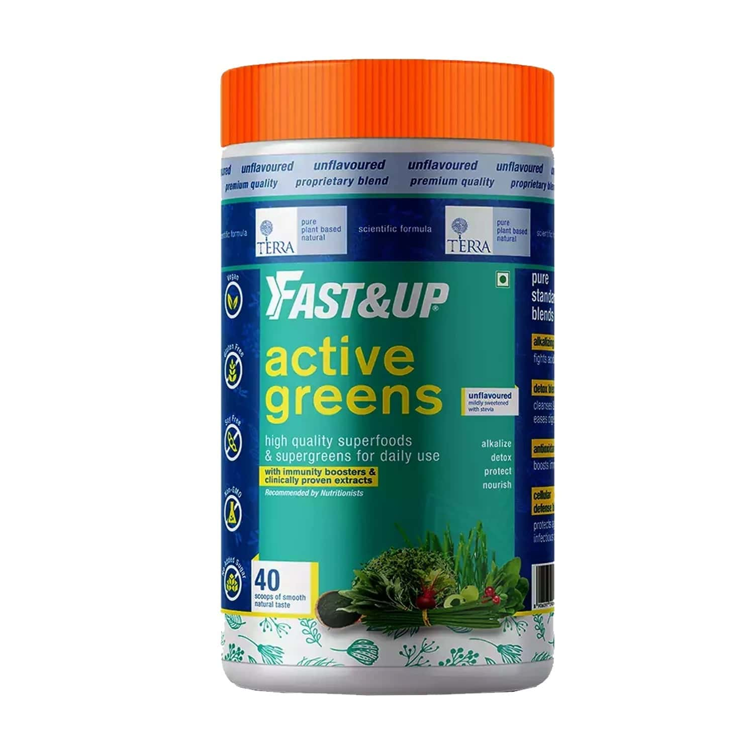 Fast&up Terra - Active Greens - 40 Scoops - 280 G