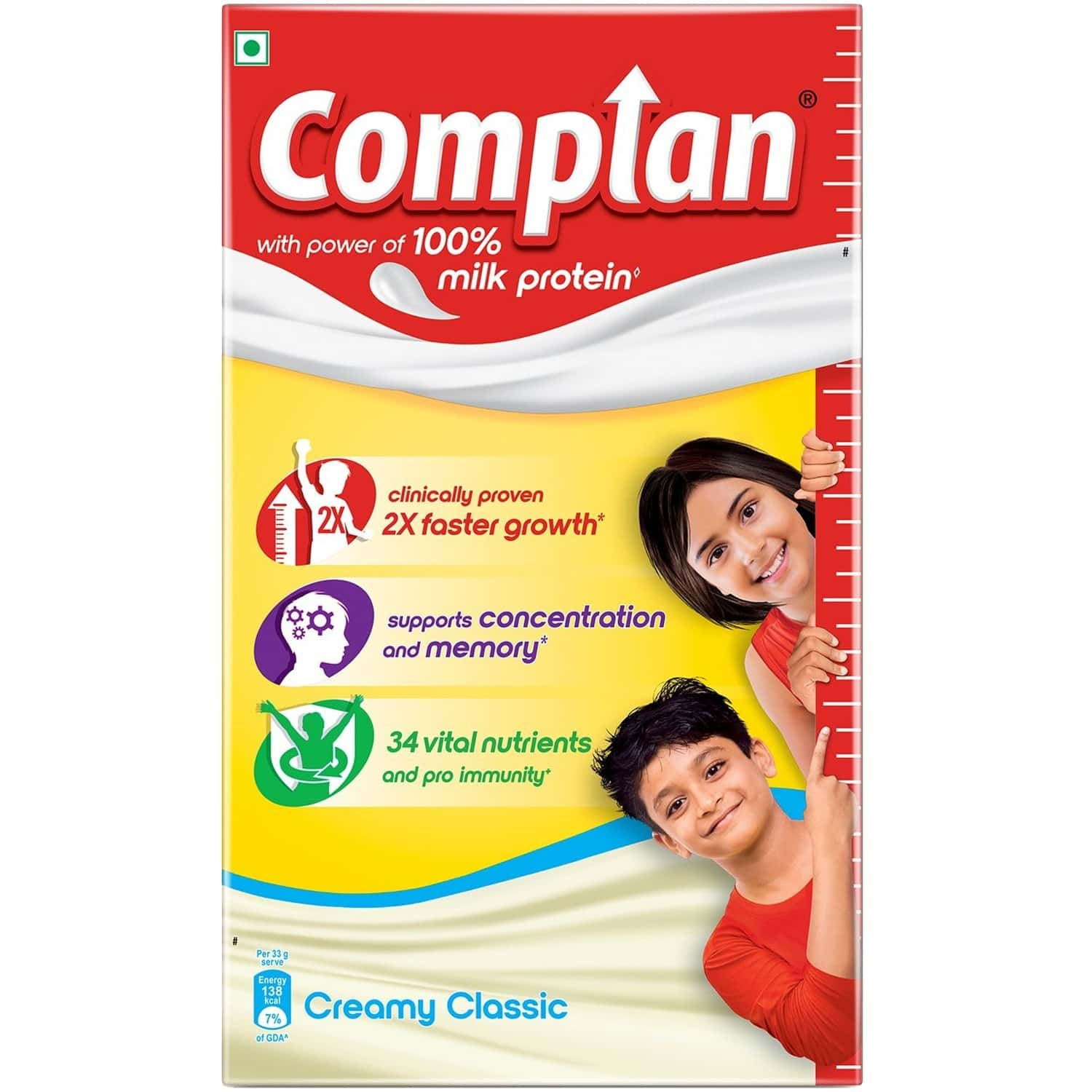 Complan Nutrition And Health Drink Creamy Classic 1kg, Refill