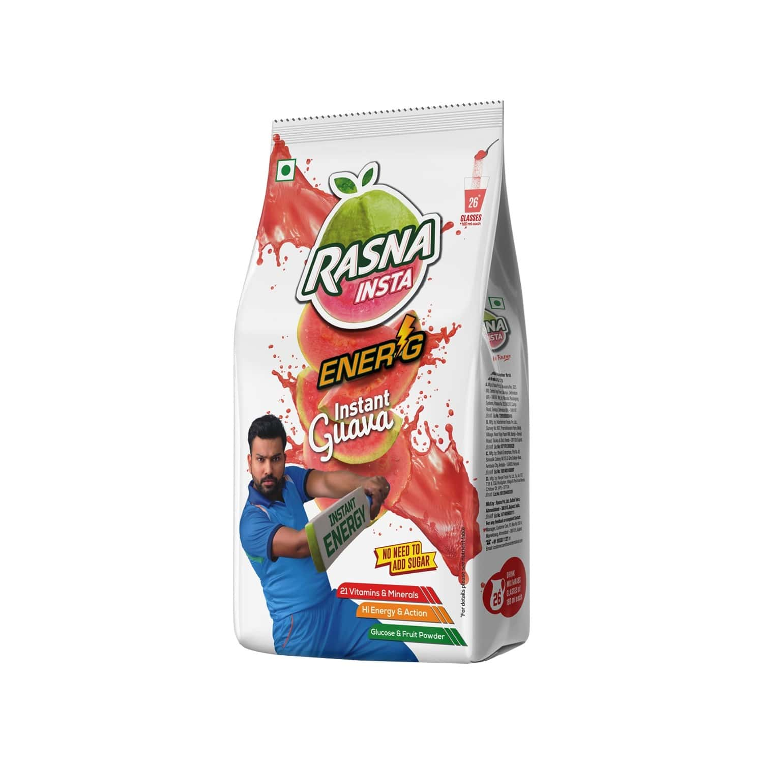 Rasna Insta Drink Concentrate Mix 750 G Pack - Orange