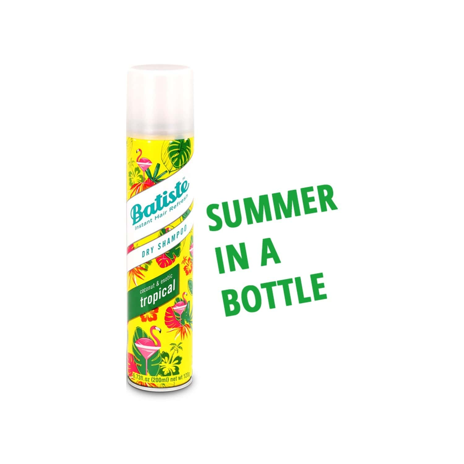 Batiste Instant Hair Refresh Dry Shampoo - Coconut & Exotic Tropical - 200ml
