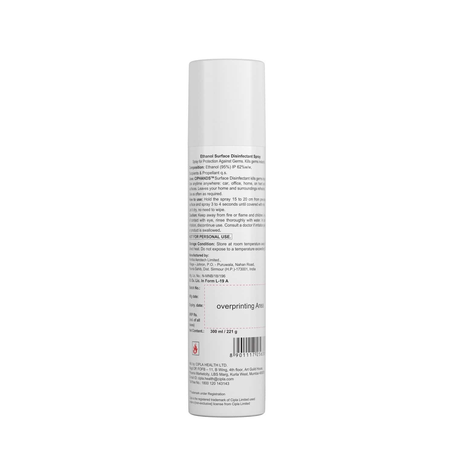 Cipla Ciphands Disinfectant Spray - 300 Ml