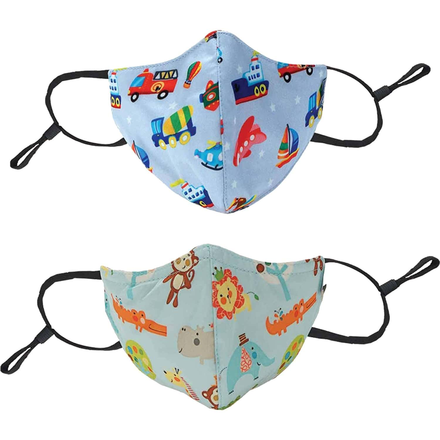 Chicco Kids Face Mask 3-6y Cars Jungle - 2 Pcs