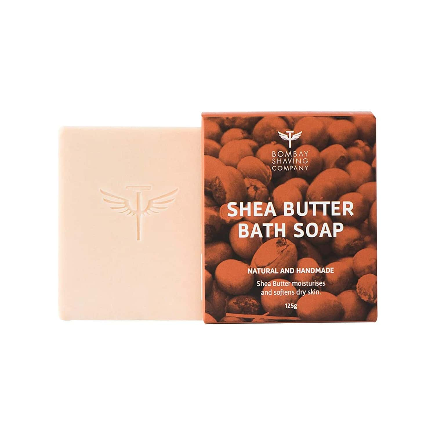 Bombay Shaving Company Shea Butter Moisturizing Bath Soap With Extra Virgin Coconut Oil And Honey For Dry Skin - 125 Gm