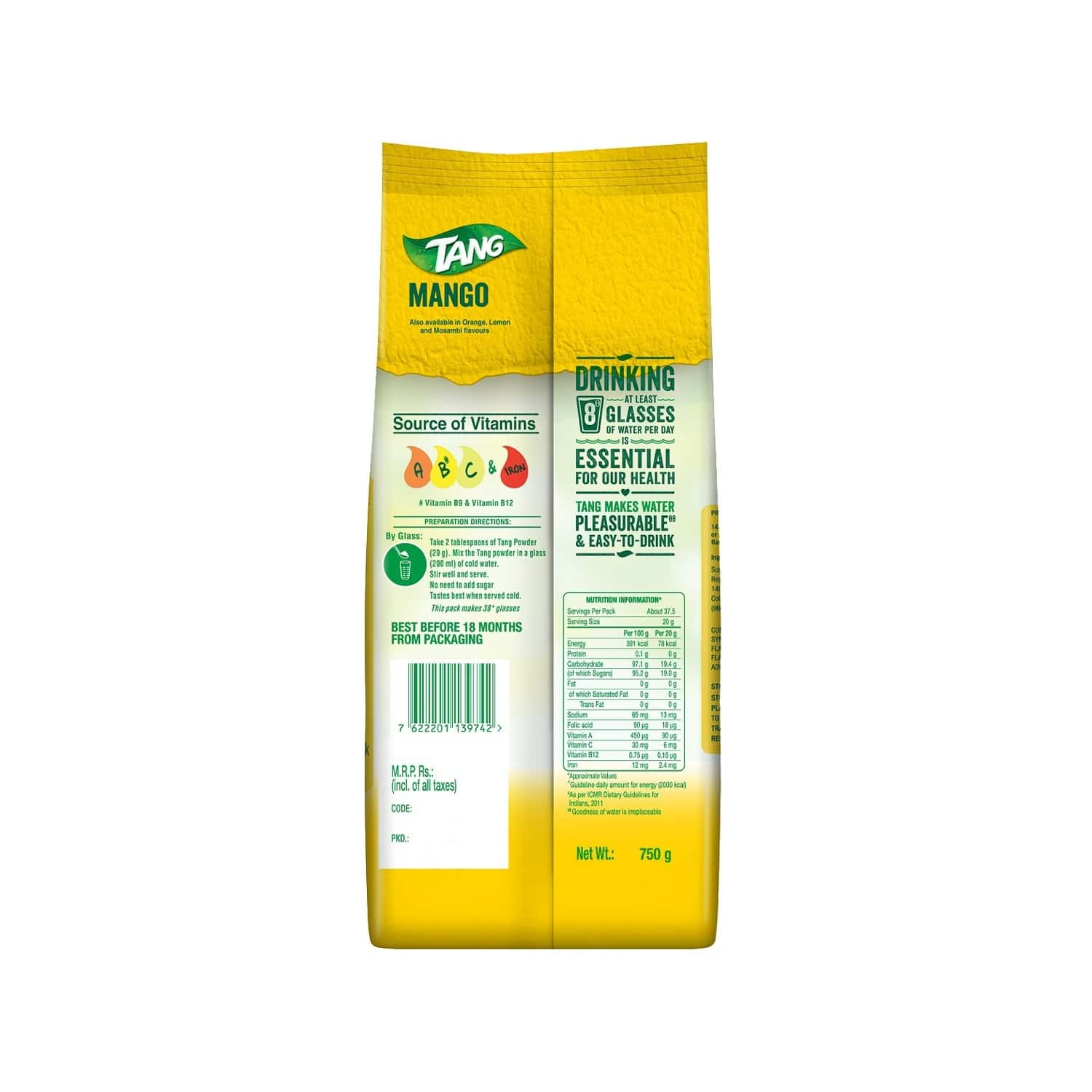 Tang Mango Instant Drink Mix Packet Of 750 G