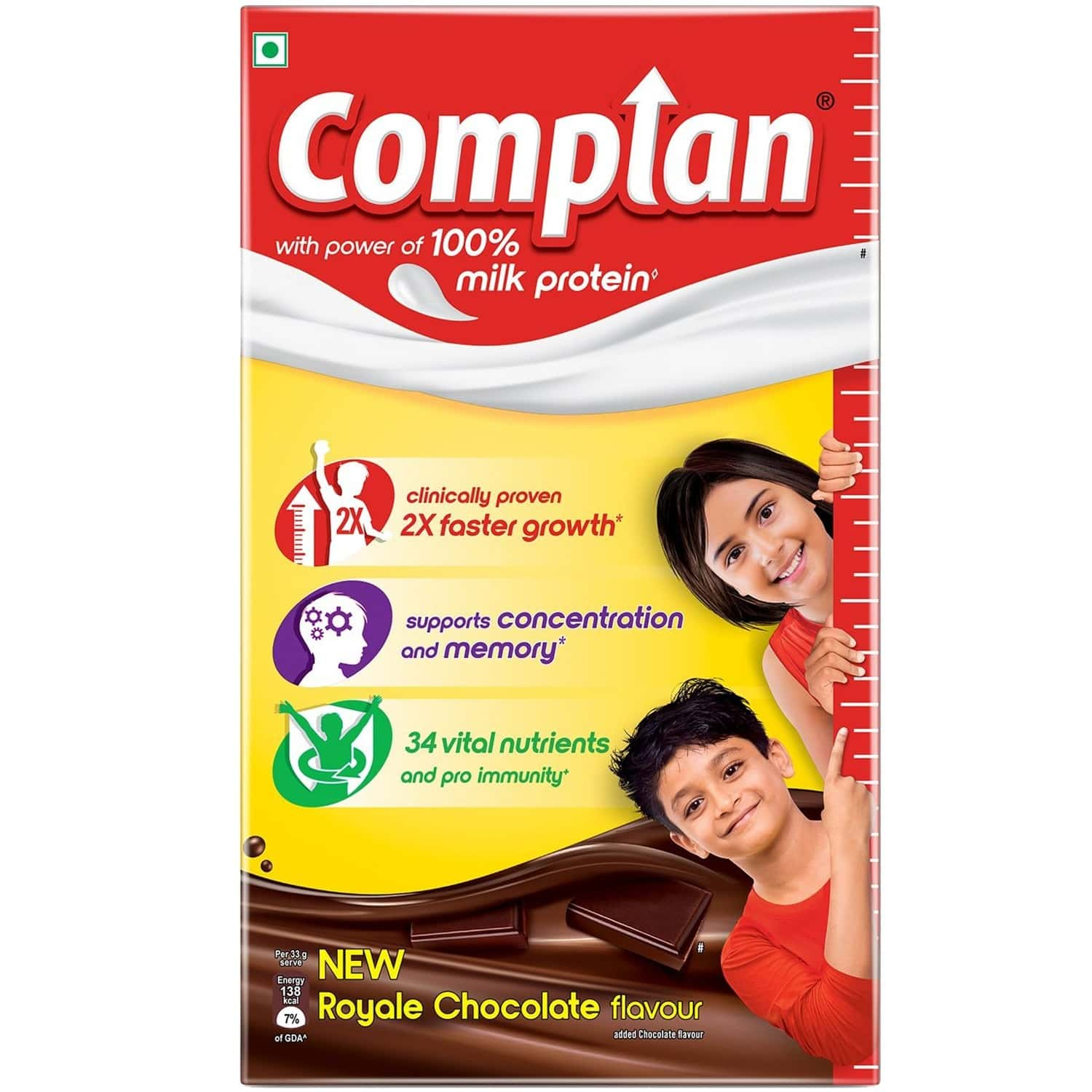 Complan Nutrition And Health Drink Royale Chocolate 1kg, Refill Box