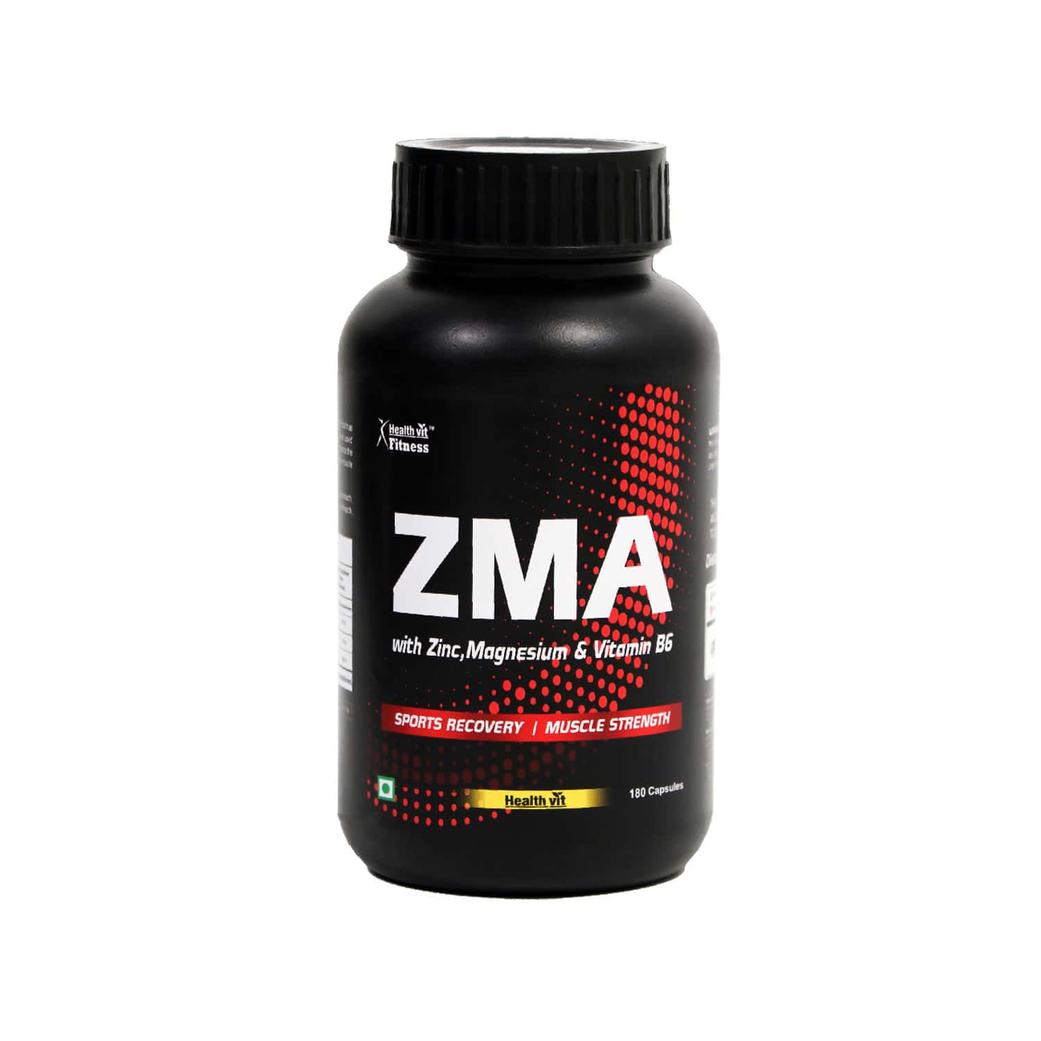 Healthvit Fitness Zma ( Zinc, Magnesium Aspartate, Vitamin B6 ) For Sports Recovery & Muscle Strength - 180 Capsules