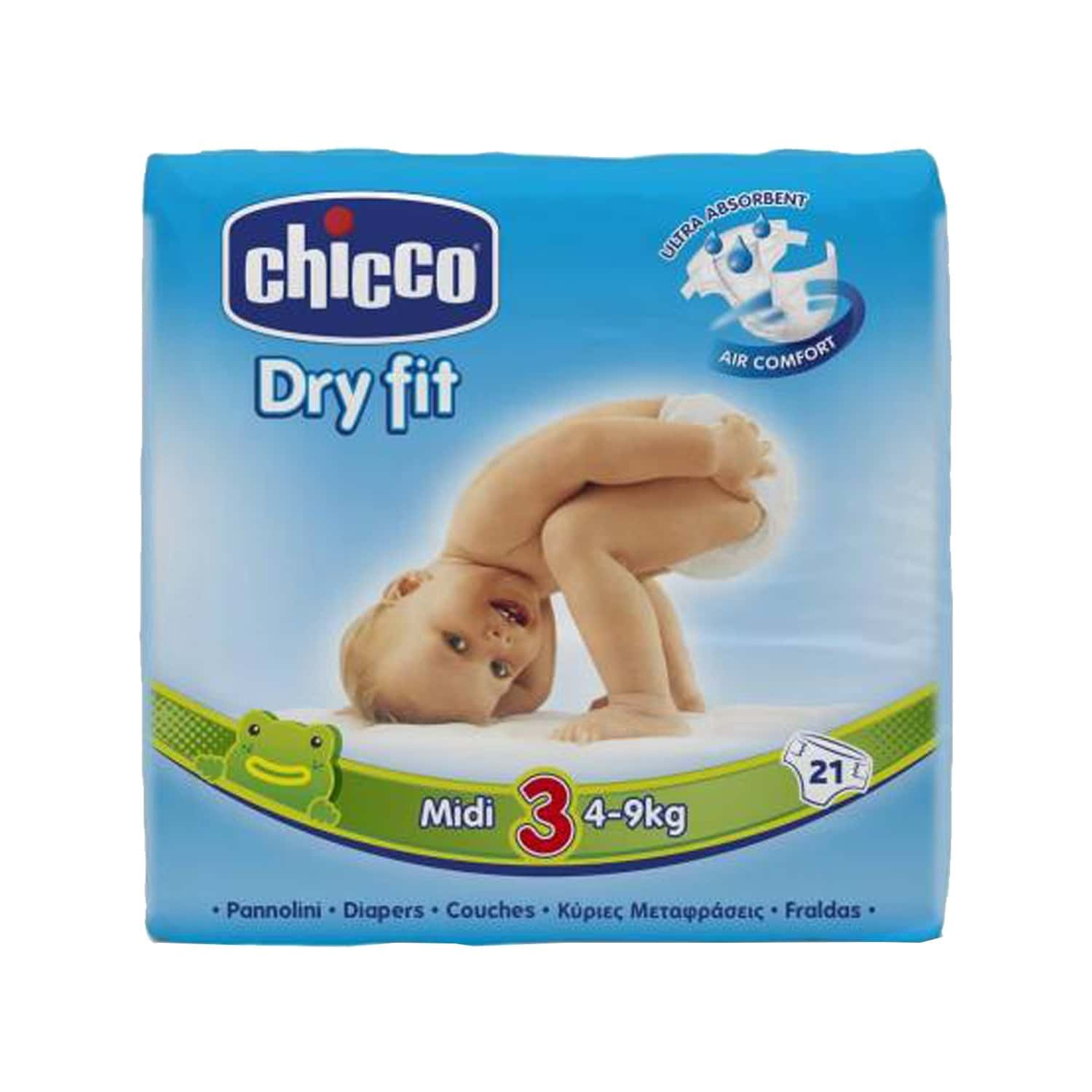 Chicco Baby Dry Fit Advanced Diaper Midi Packet Of 21