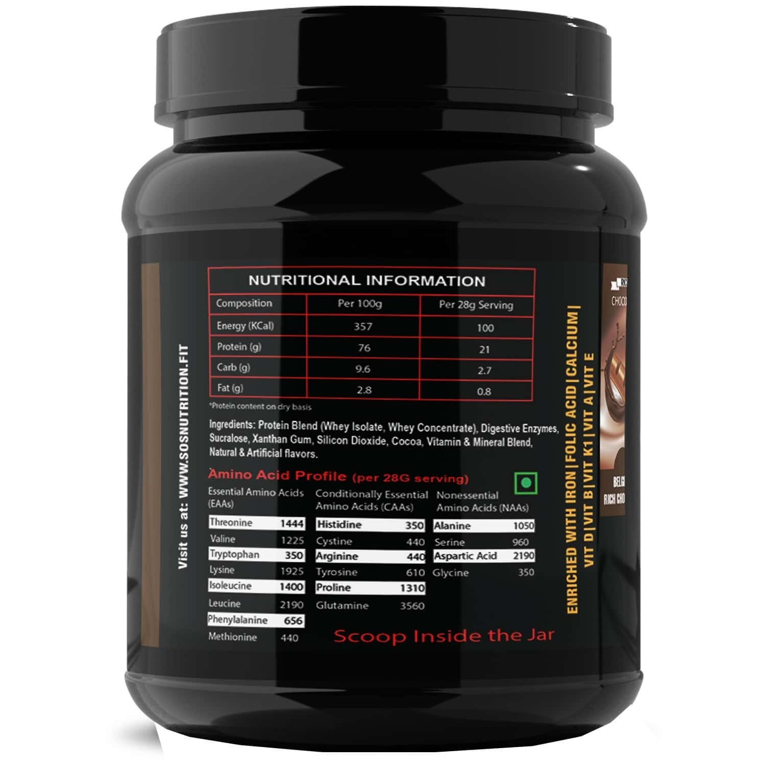 Sos Nutrition Slimming Max Weight Loss Chocolate Whey Protein -909g (skin Glow, Healthy Hair)