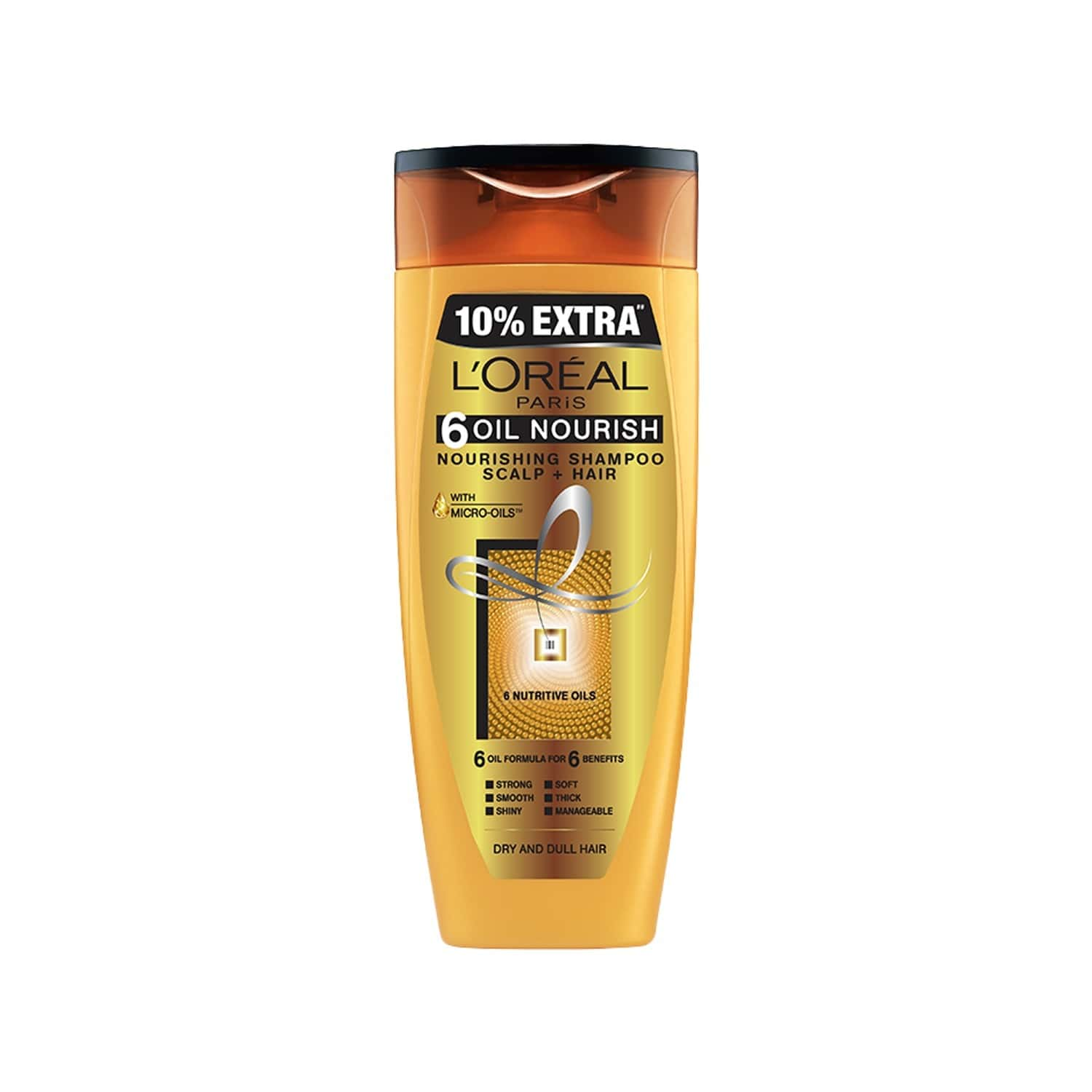 L'oreal Paris 6 Oil Nourish Shampoo Bottle Of 360 Ml (with 10% Extra)