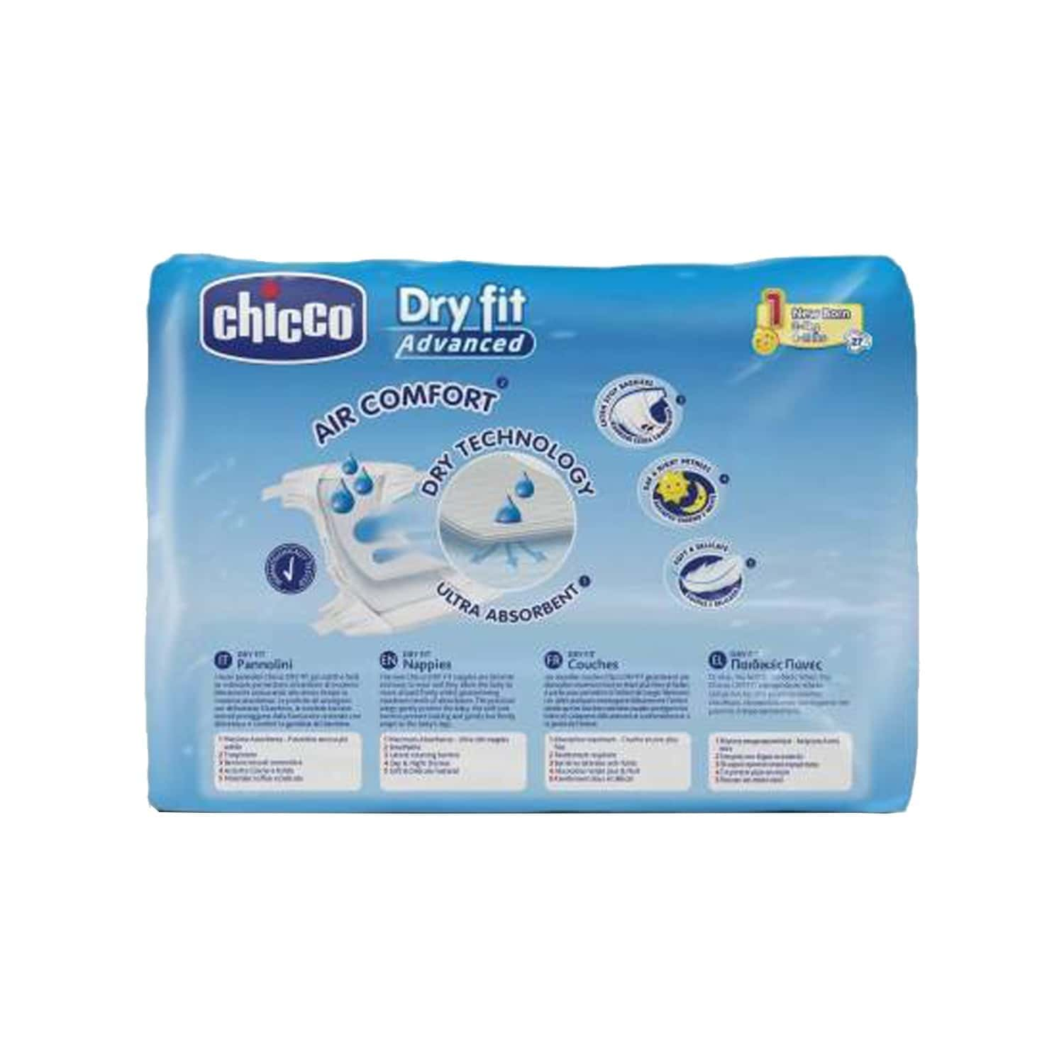 Chicco Baby Dry Fit Advanced Diaper Mini Packet Of 25