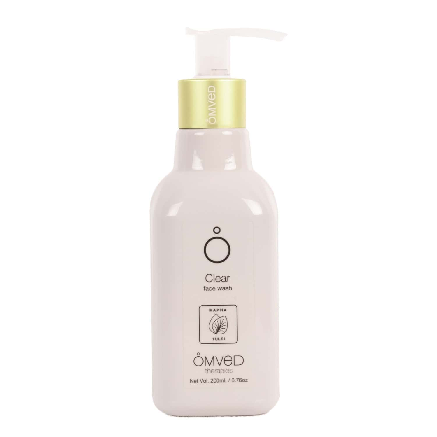 Omved Clear Face Wash For Deep Cleansing With Activated Charcoal, Tulsi, Wheat Protein, Vit B5 And Aloe Vera, Sls, Paraben Free-200ml