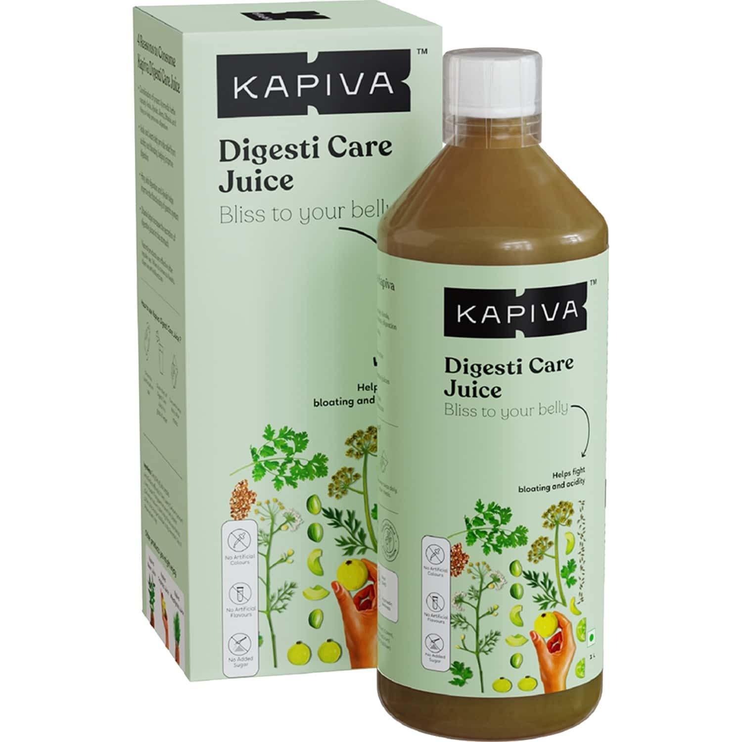 Kapiva Digesti Care Juice Provides Relief From Acidity & Bloating | Blend Of 5 Ayurvedic Herbs To Aid Digestion 1l