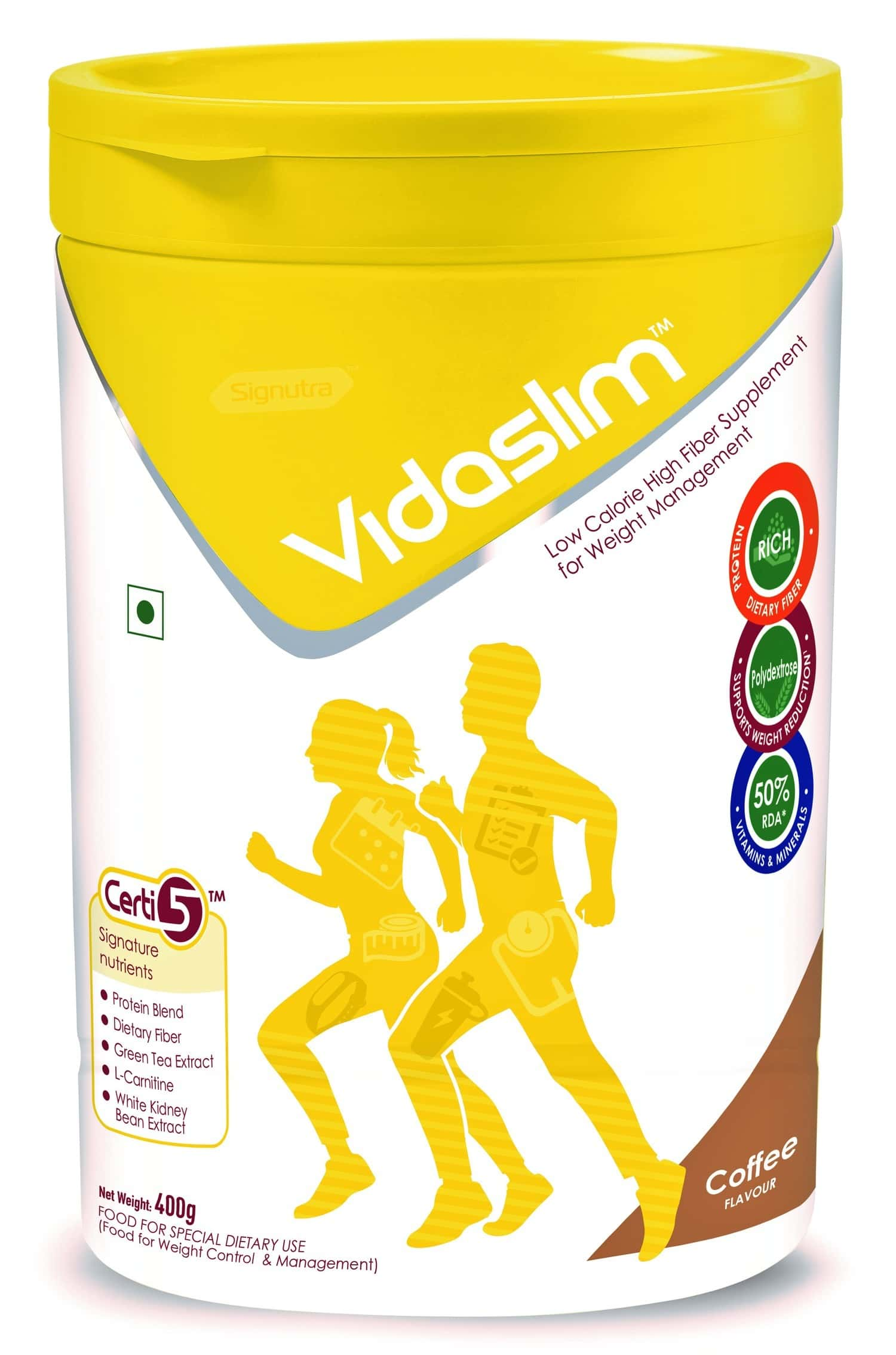 Vidaslim Coffee Weight Management Powder Jar Of 400 G