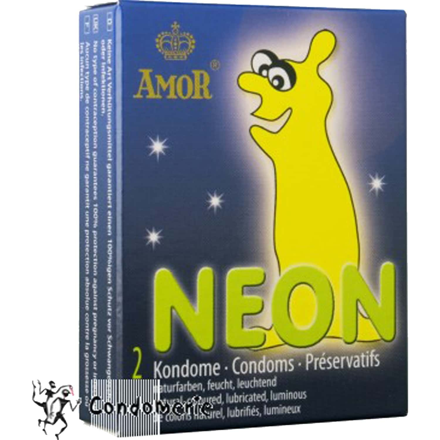 Amor Neon Lubricated Unique Condoms From Germany - Pack Of 4