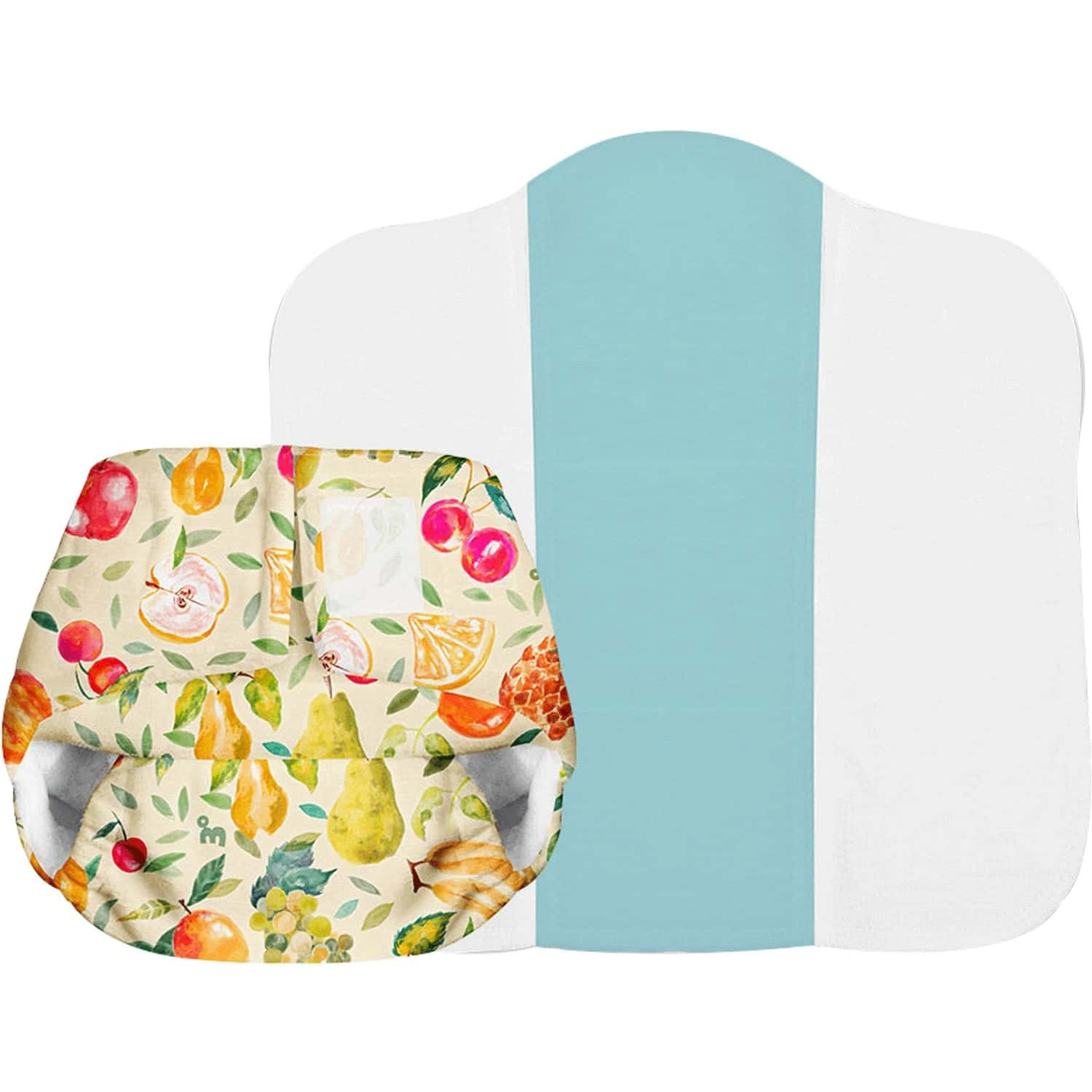 Superbottoms Newborn Uno Reusable Cloth Diaper With Dry Feel Pad - 0-6 Months - Fruit Burst