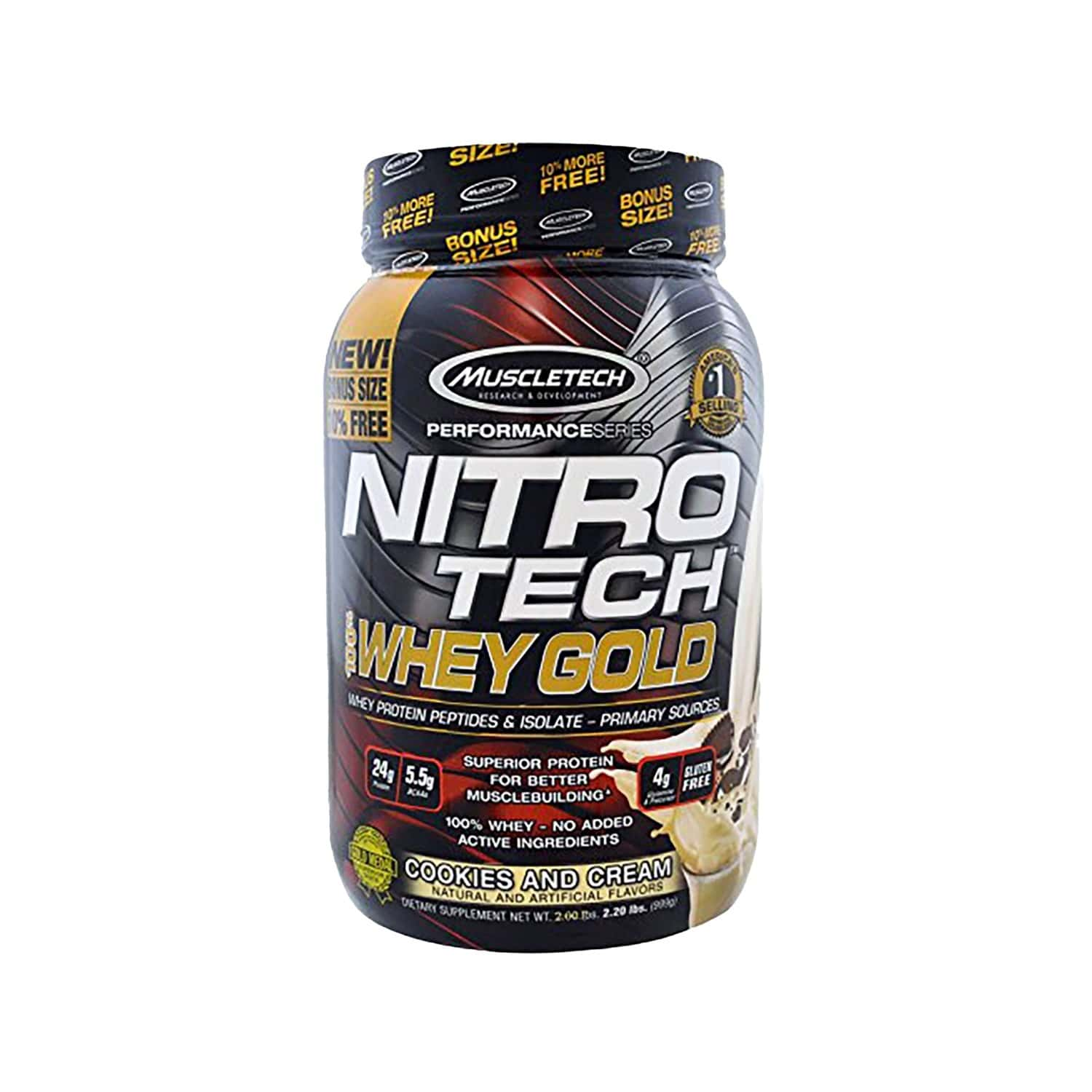 Muscletech Cookies And Cream Nitro Tech 100% Whey Gold - 1000 Gm