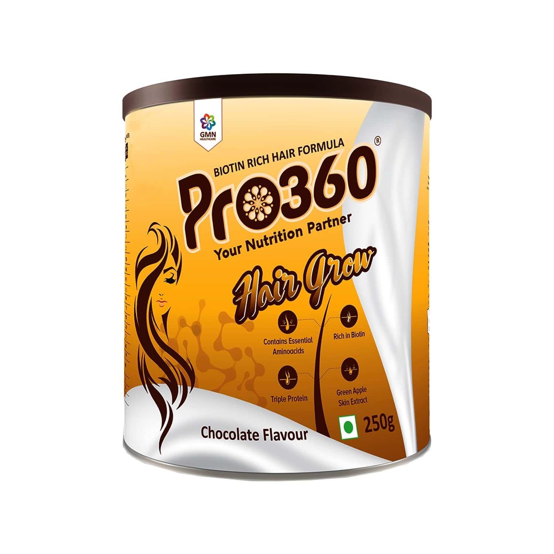 Pro360 Hair Grow Chocolate Health Food Tin Of 250 G